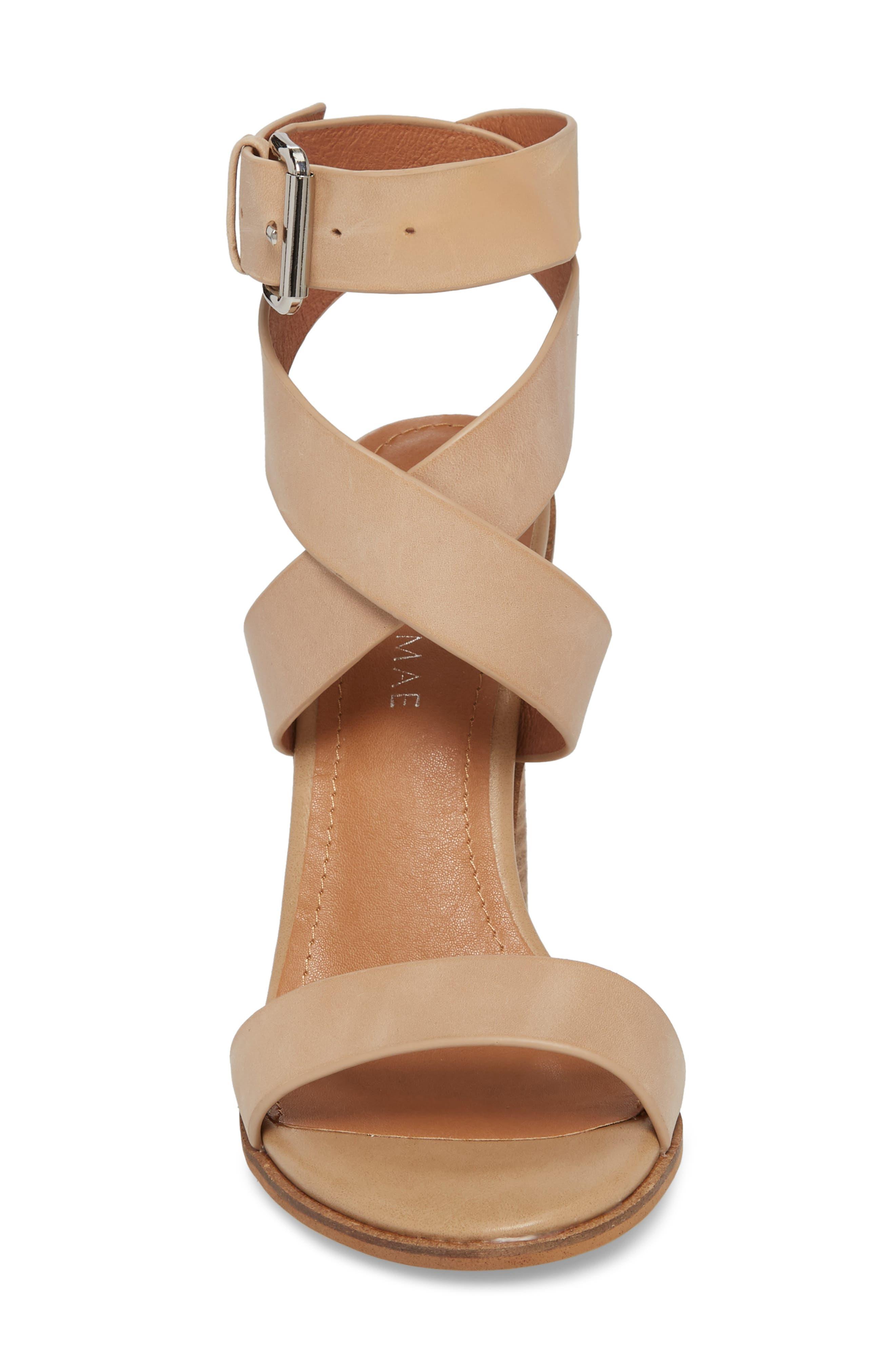 Abaala Cross Strap Sandal,                             Alternate thumbnail 4, color,                             Natural Leather