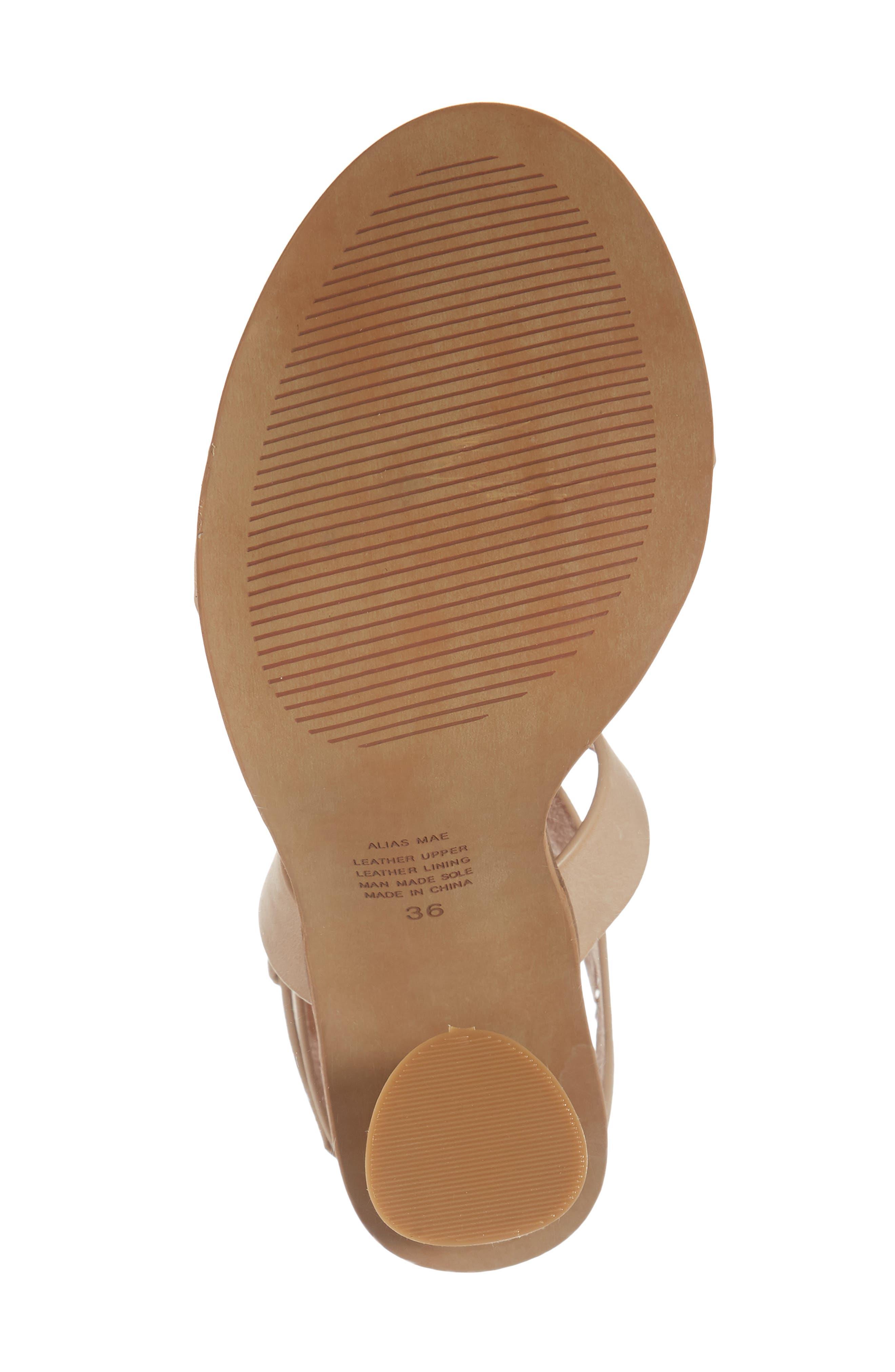 Abaala Cross Strap Sandal,                             Alternate thumbnail 6, color,                             Natural Leather