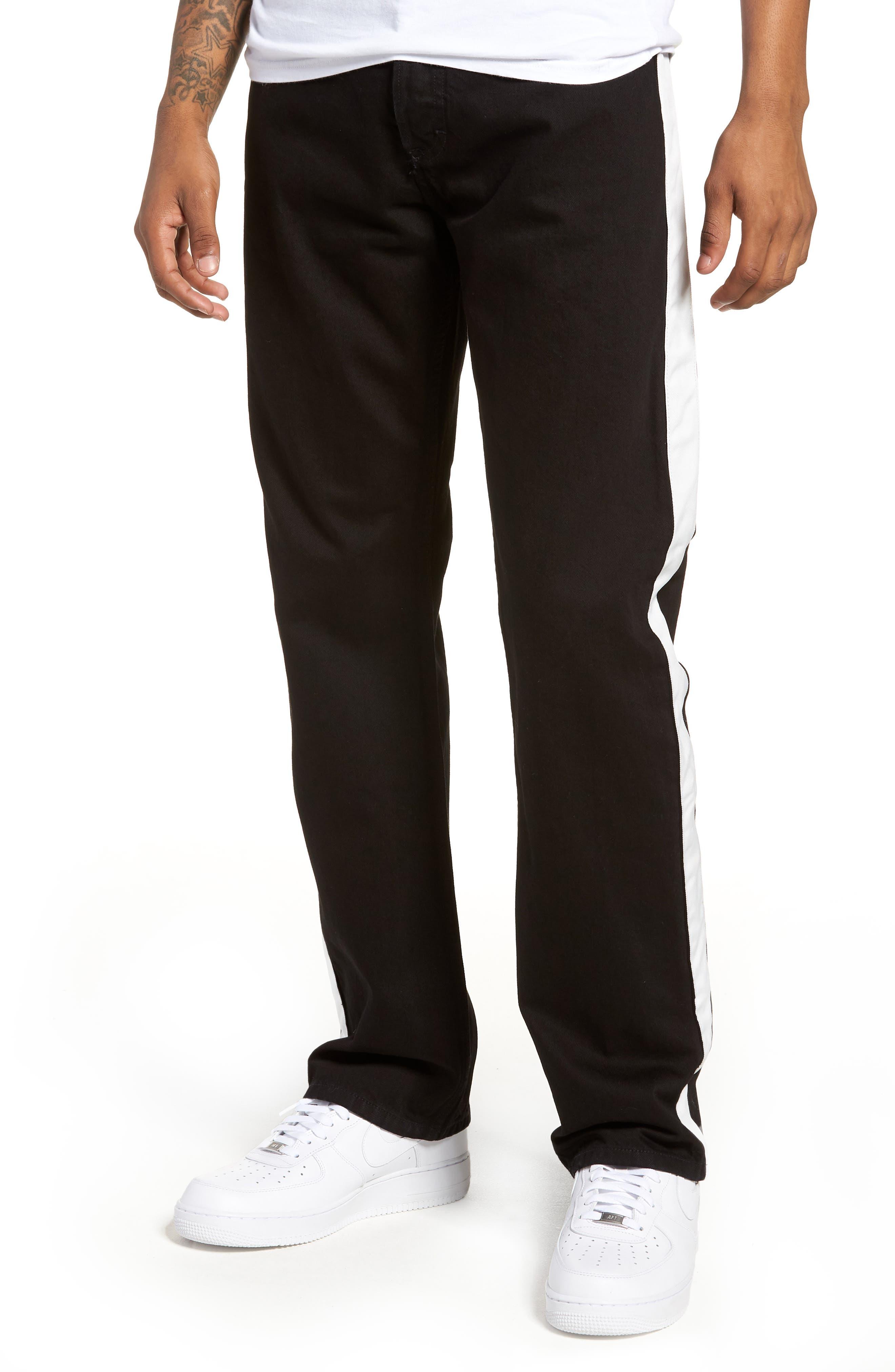 Calvin Klein Straight Leg Taped Jeans