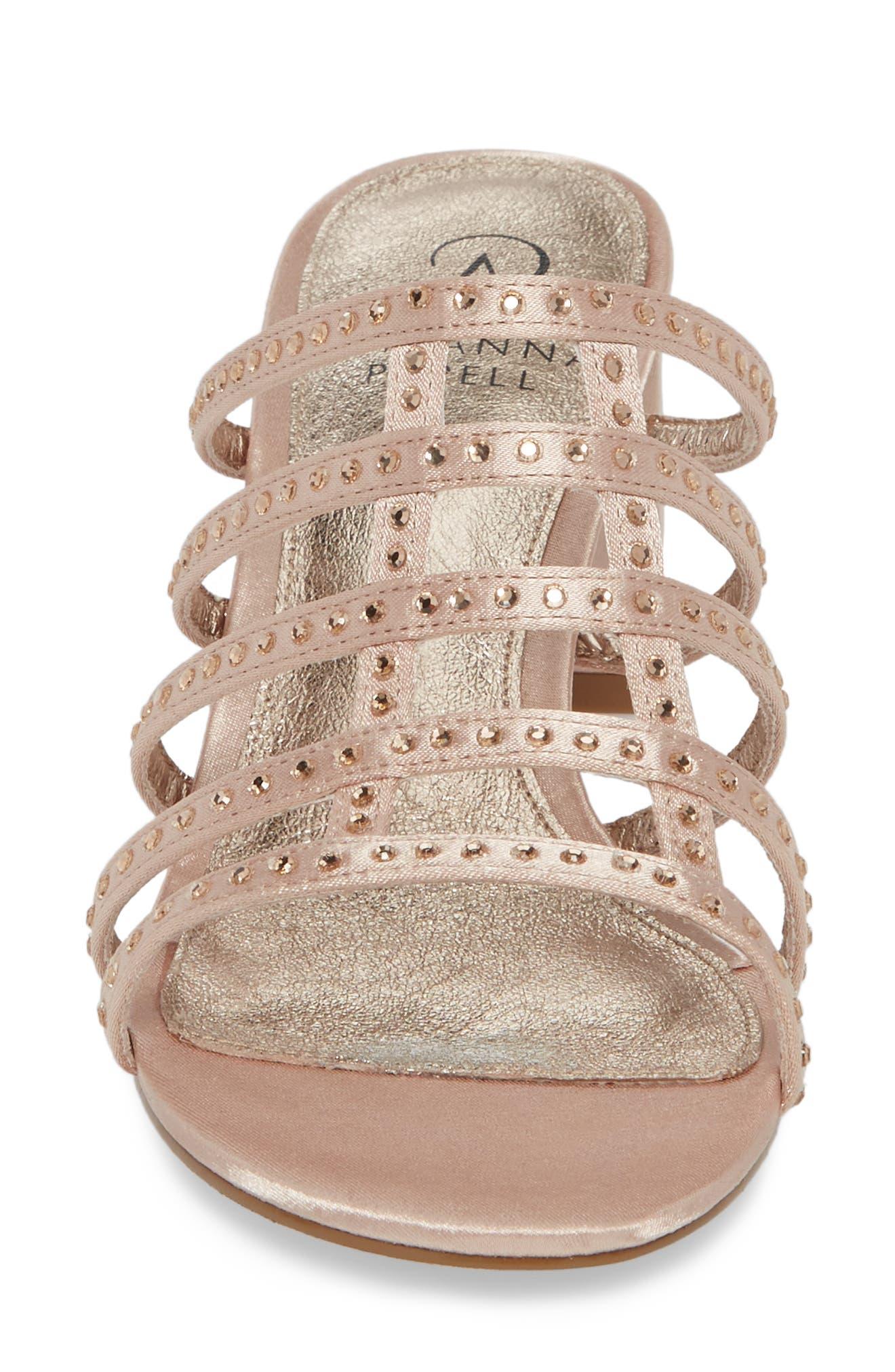 Apollo Block Heel Sandal,                             Alternate thumbnail 4, color,                             Sheer Fabric