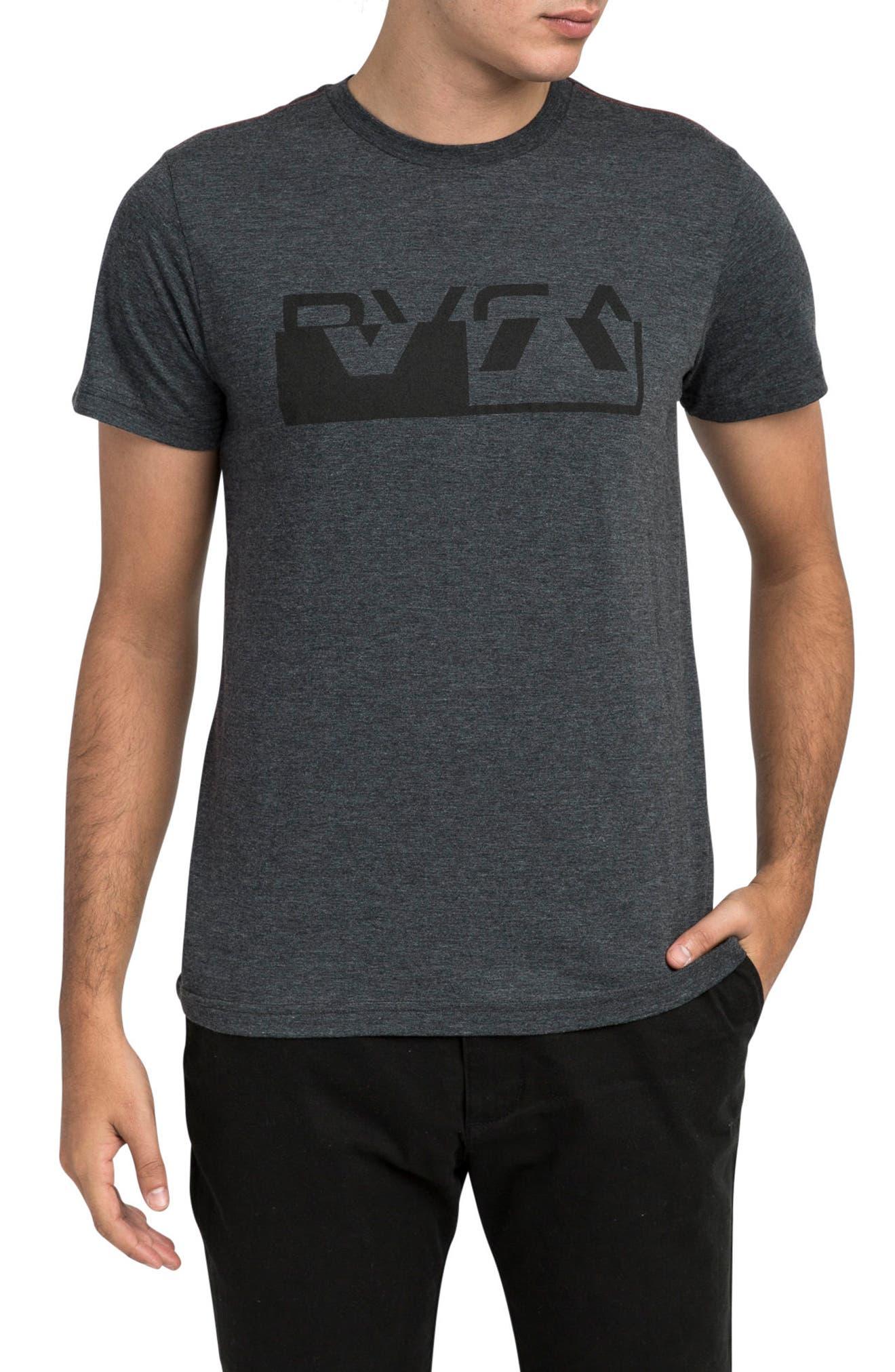 Co Brand Logo Graphic T-Shirt,                         Main,                         color, Rvca Black