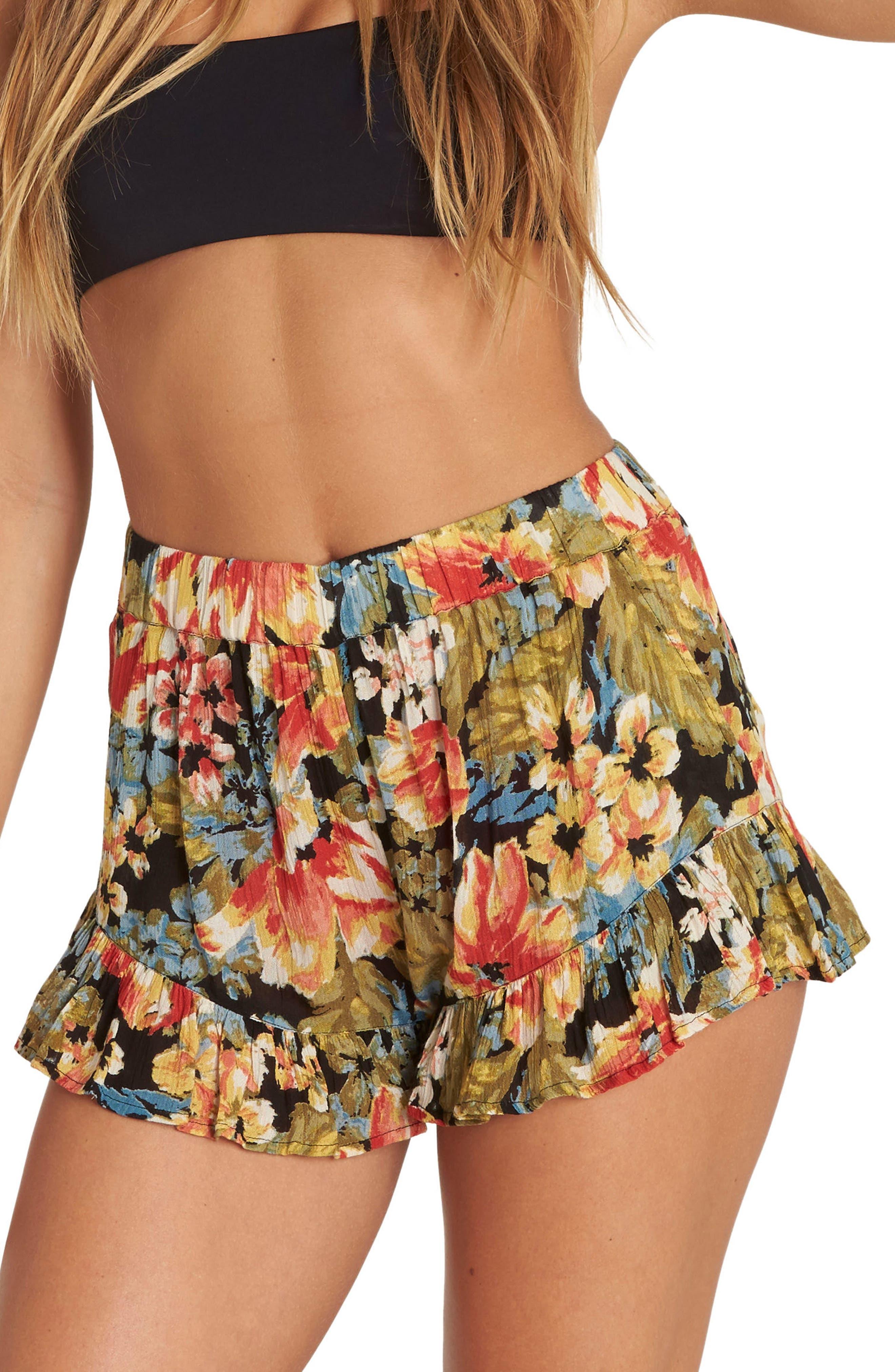 Sun Skipper Ruffle Hem Shorts,                         Main,                         color, Multi