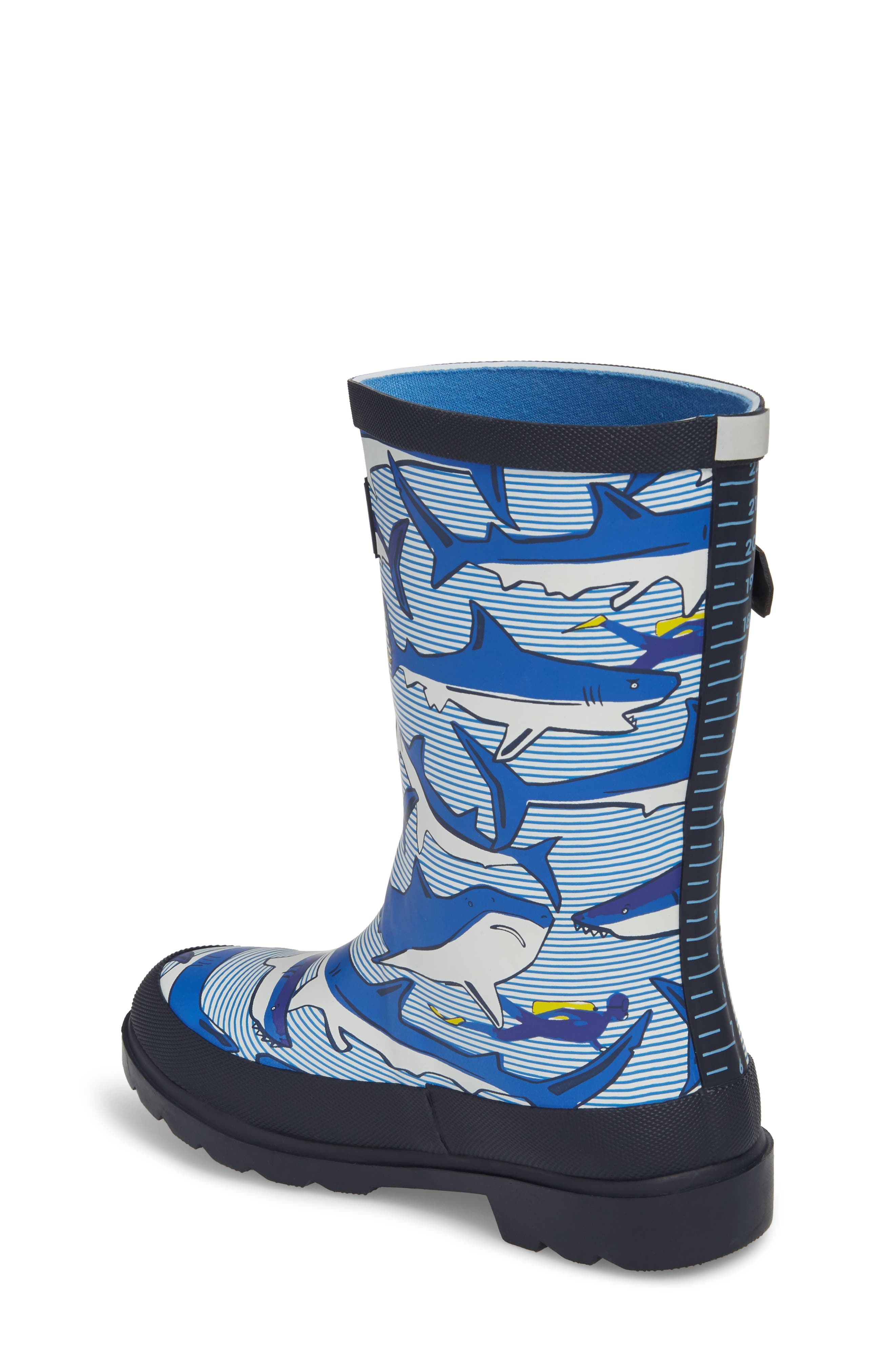 Alternate Image 2  - Joules Mid Height Print Welly Rain Boot (Toddler, Little Kid & Big Kid)