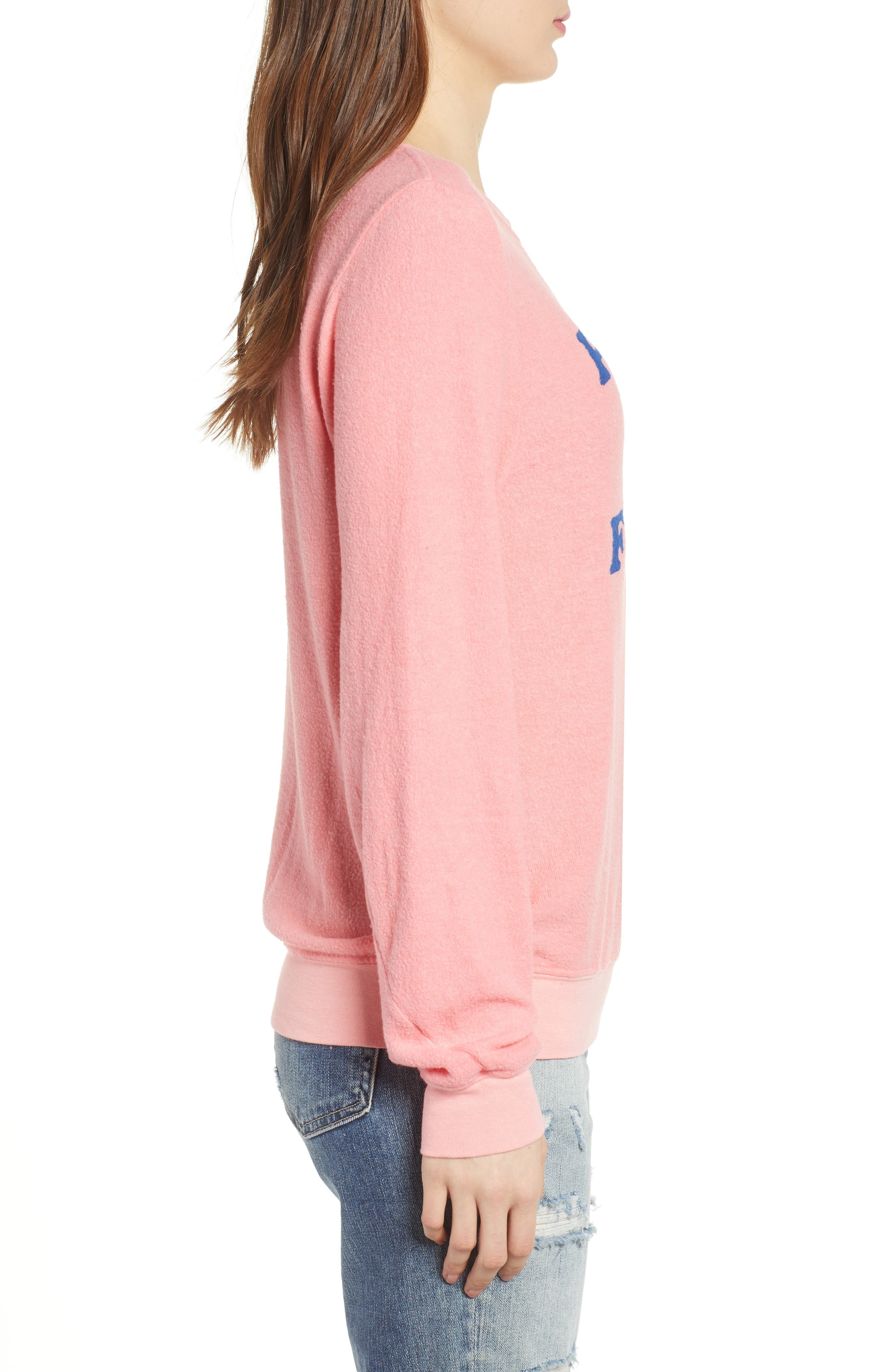 Pardon My French Sweatshirt,                             Alternate thumbnail 3, color,                             Peach Crush