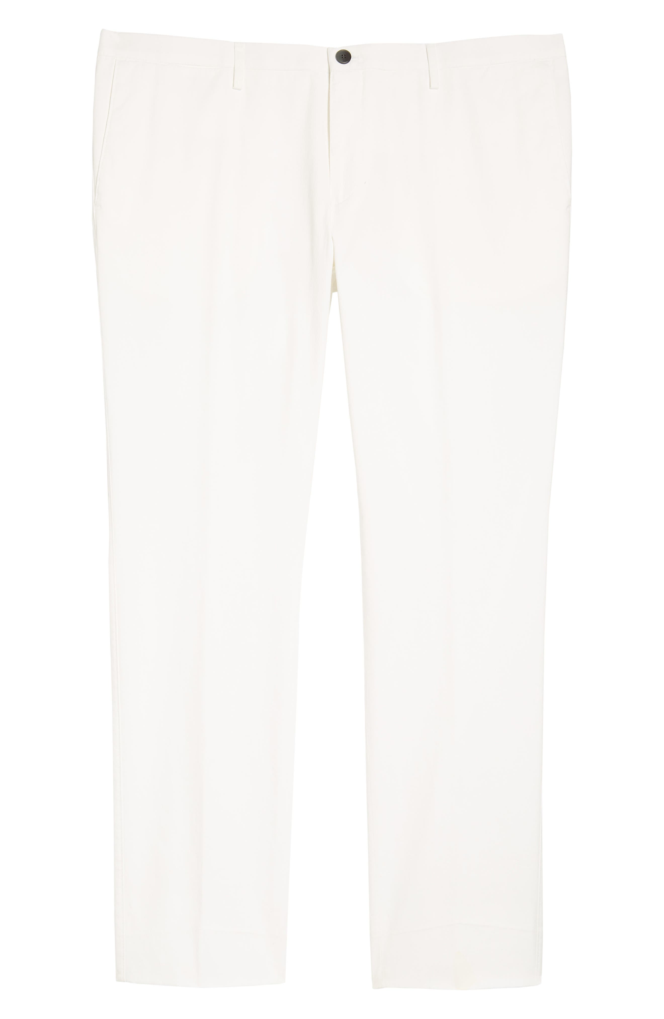 Alternate Image 6  - BOSS Stanino-W Flat Front Stretch Cotton Trousers