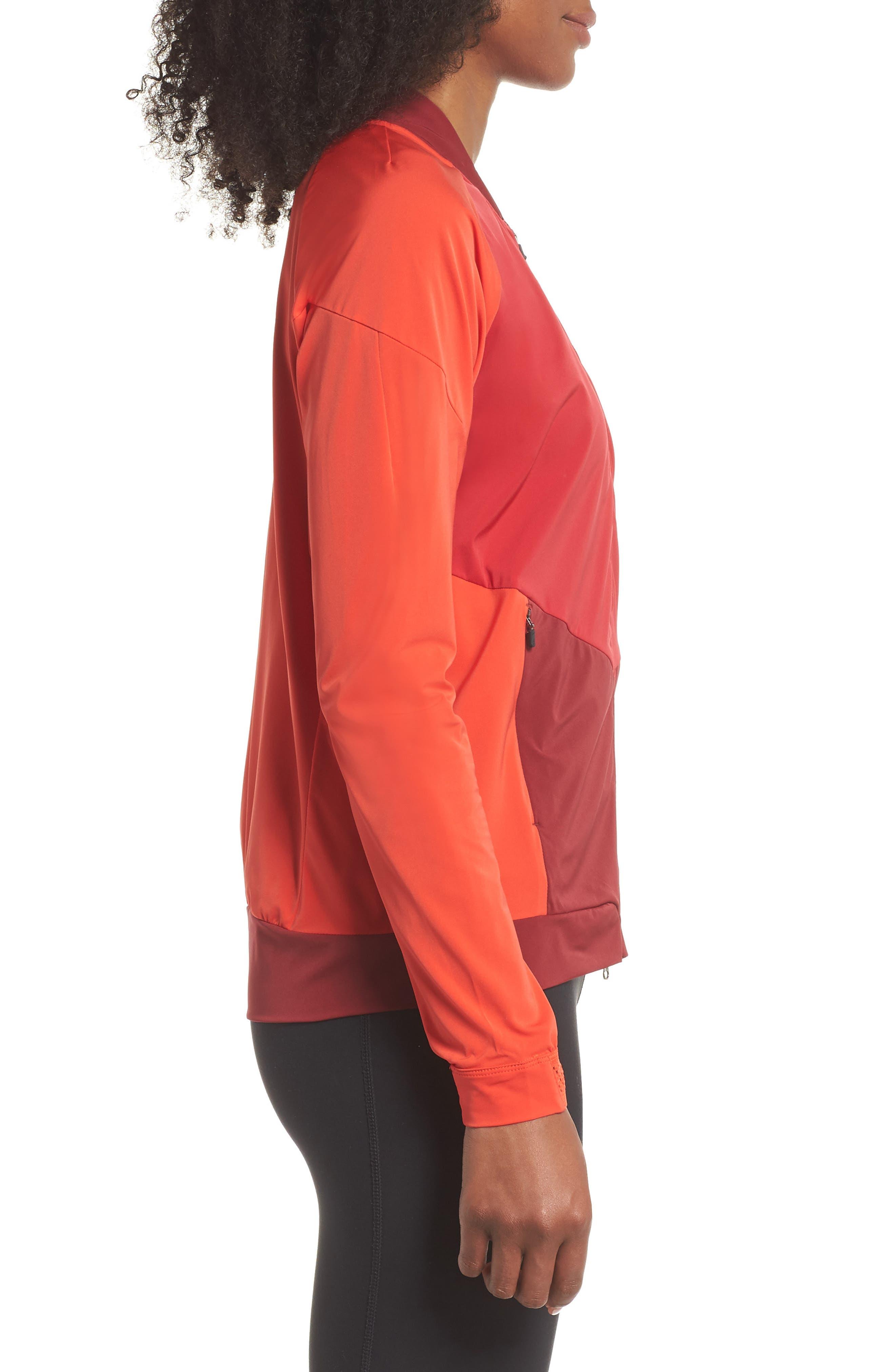 Dry Stadium Jacket,                             Alternate thumbnail 3, color,                             Habanero Red/ Coral