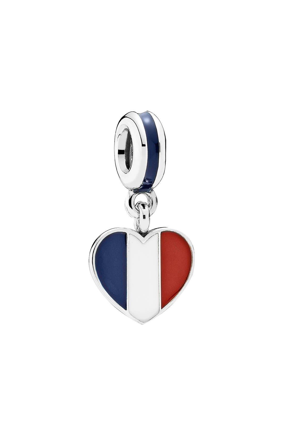 Alternate Image 1 Selected - PANDORA Flag Heart Dangle Charm