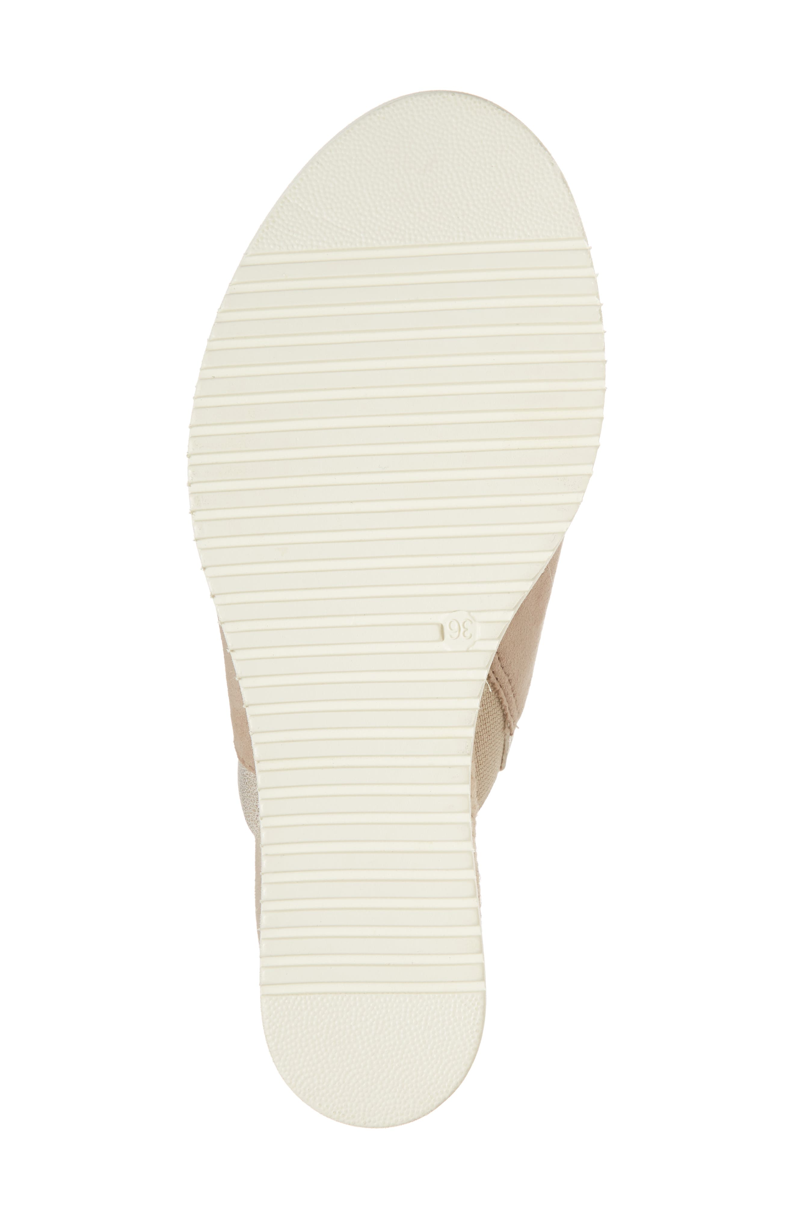 Alis Wedge Sandal,                             Alternate thumbnail 6, color,                             Shell Leather