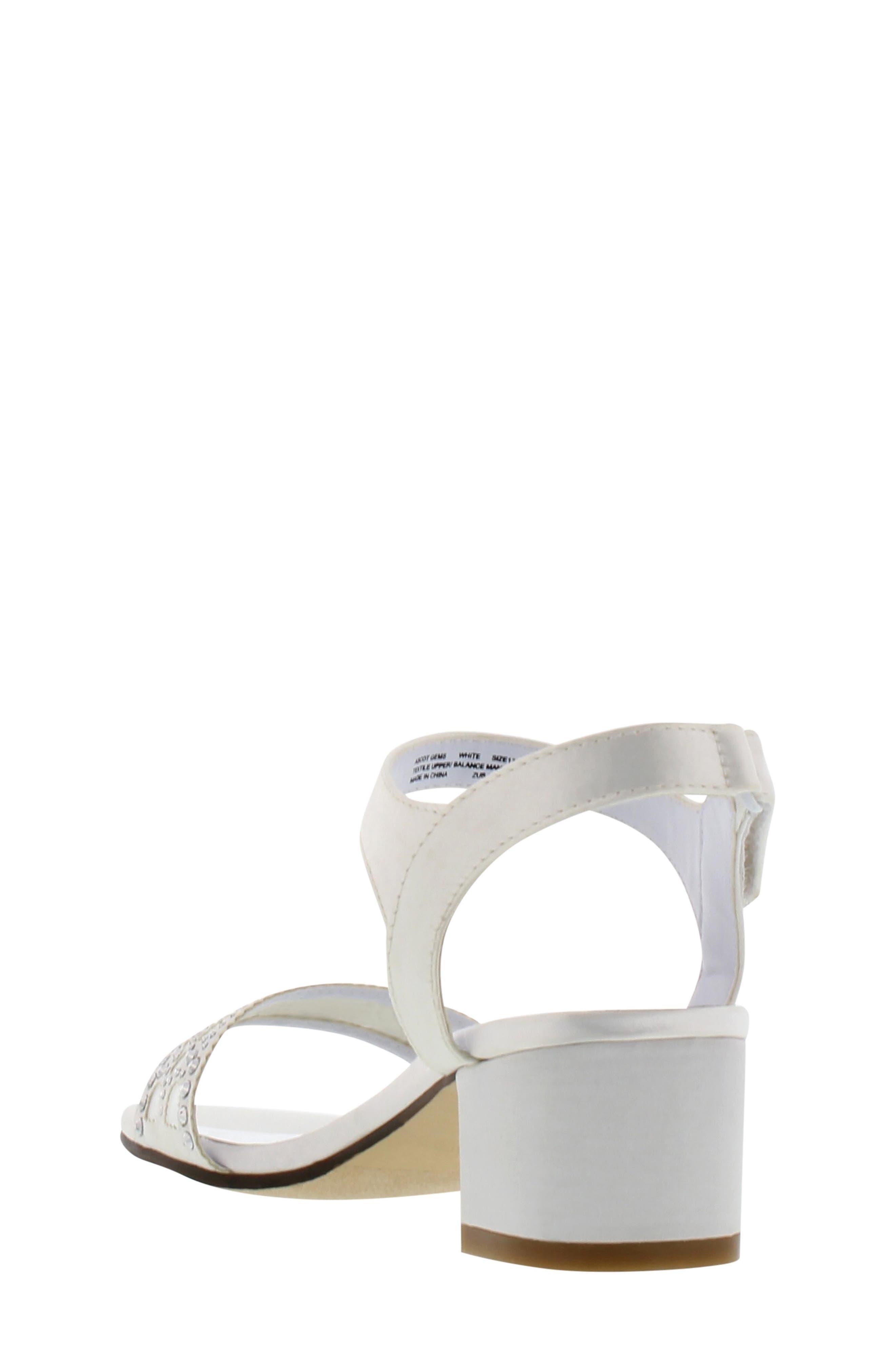 Ascot Gems Sandal,                             Alternate thumbnail 2, color,                             White