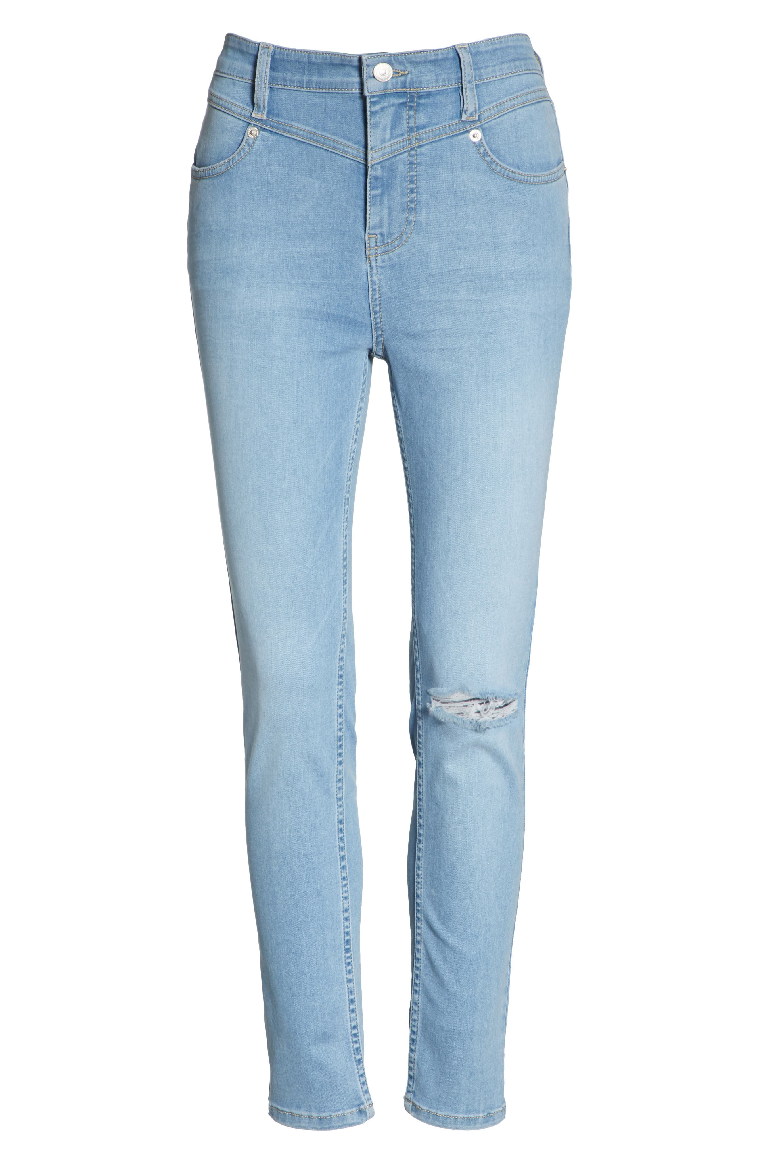 Mara Skinny Jeans,                             Alternate thumbnail 6, color,                             Blue