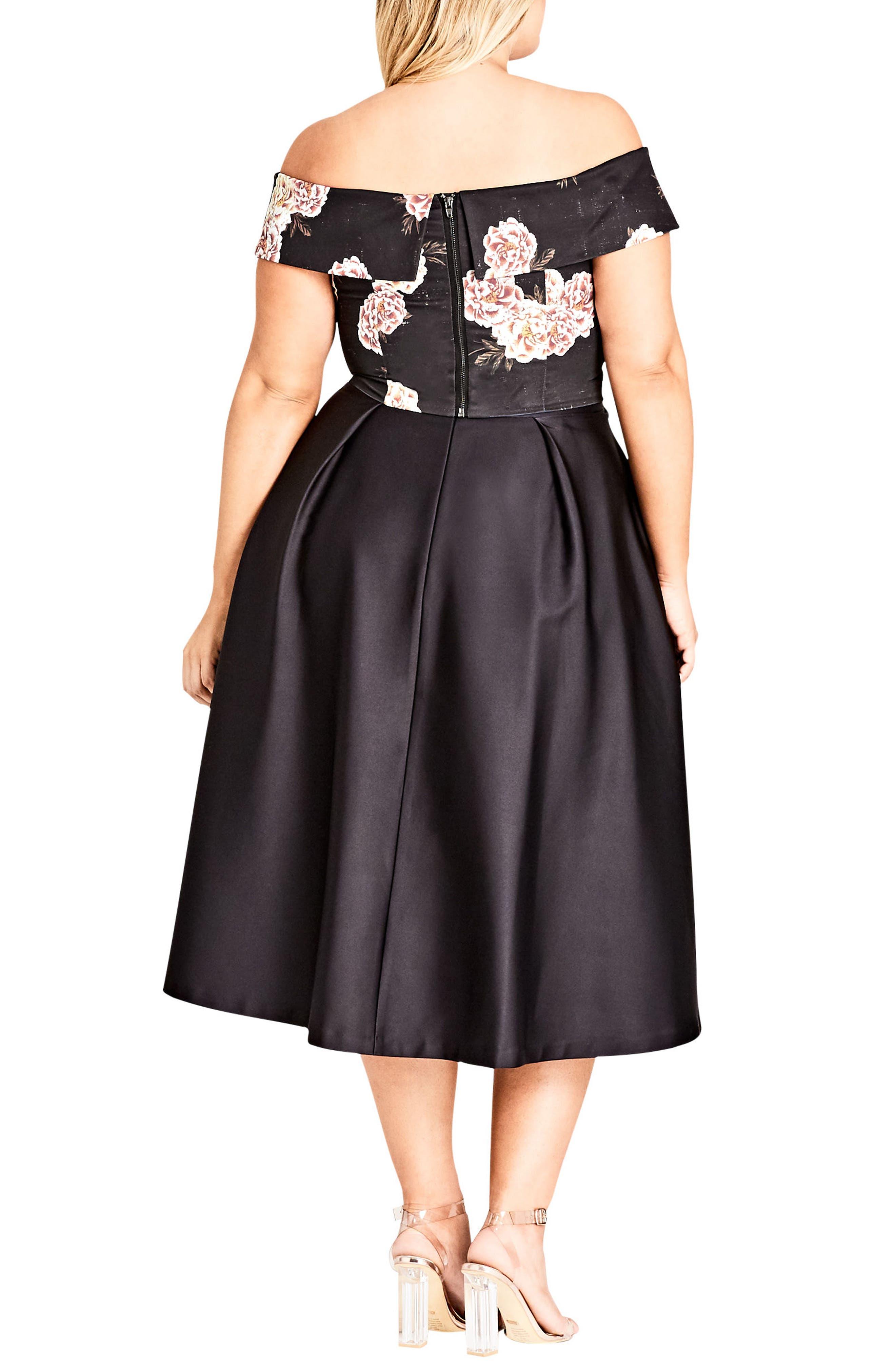 Sateen Midi Skirt,                             Alternate thumbnail 2, color,                             Black