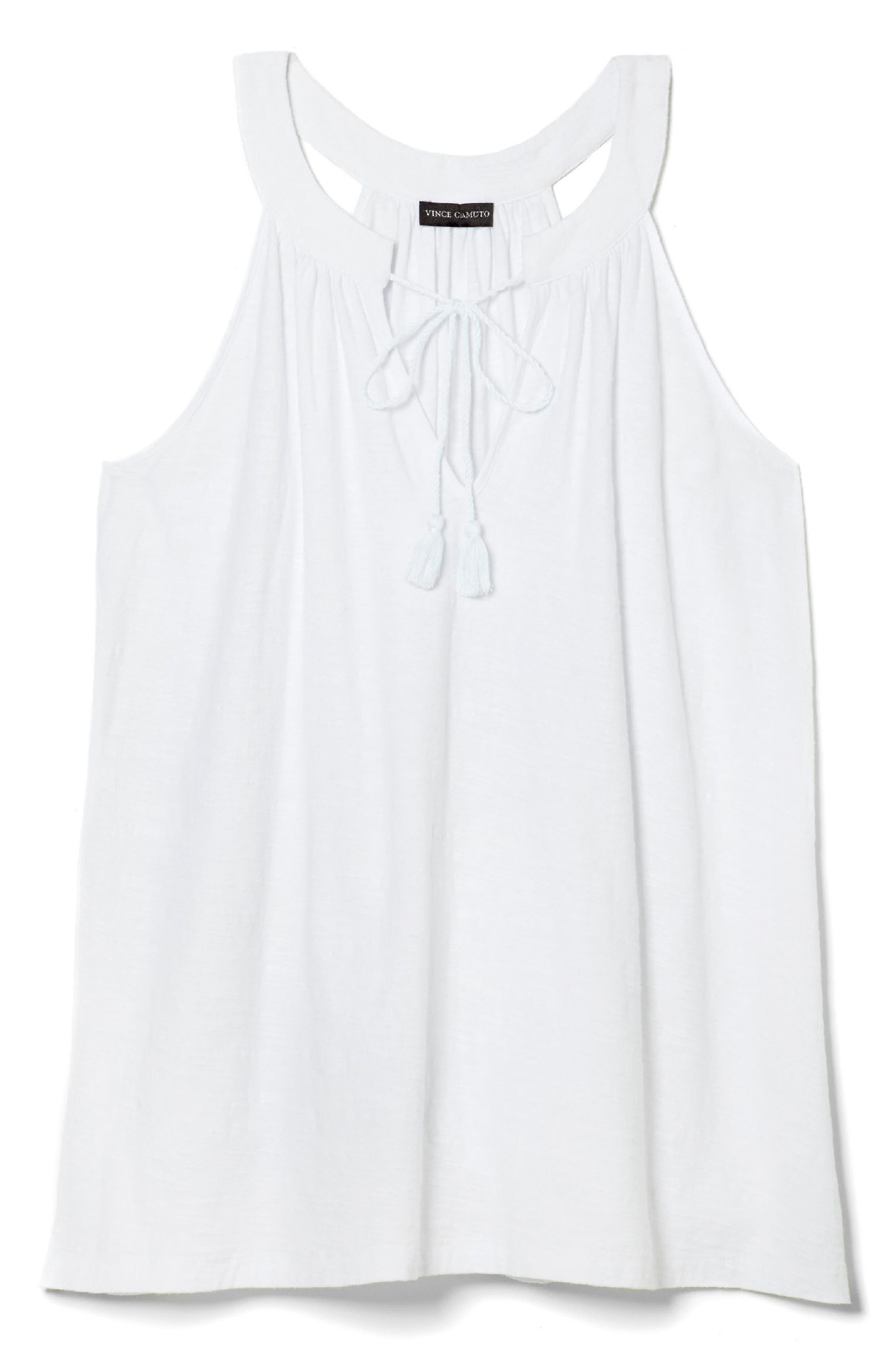 Frayed Twill Shift Dress,                             Alternate thumbnail 3, color,                             Ultra White
