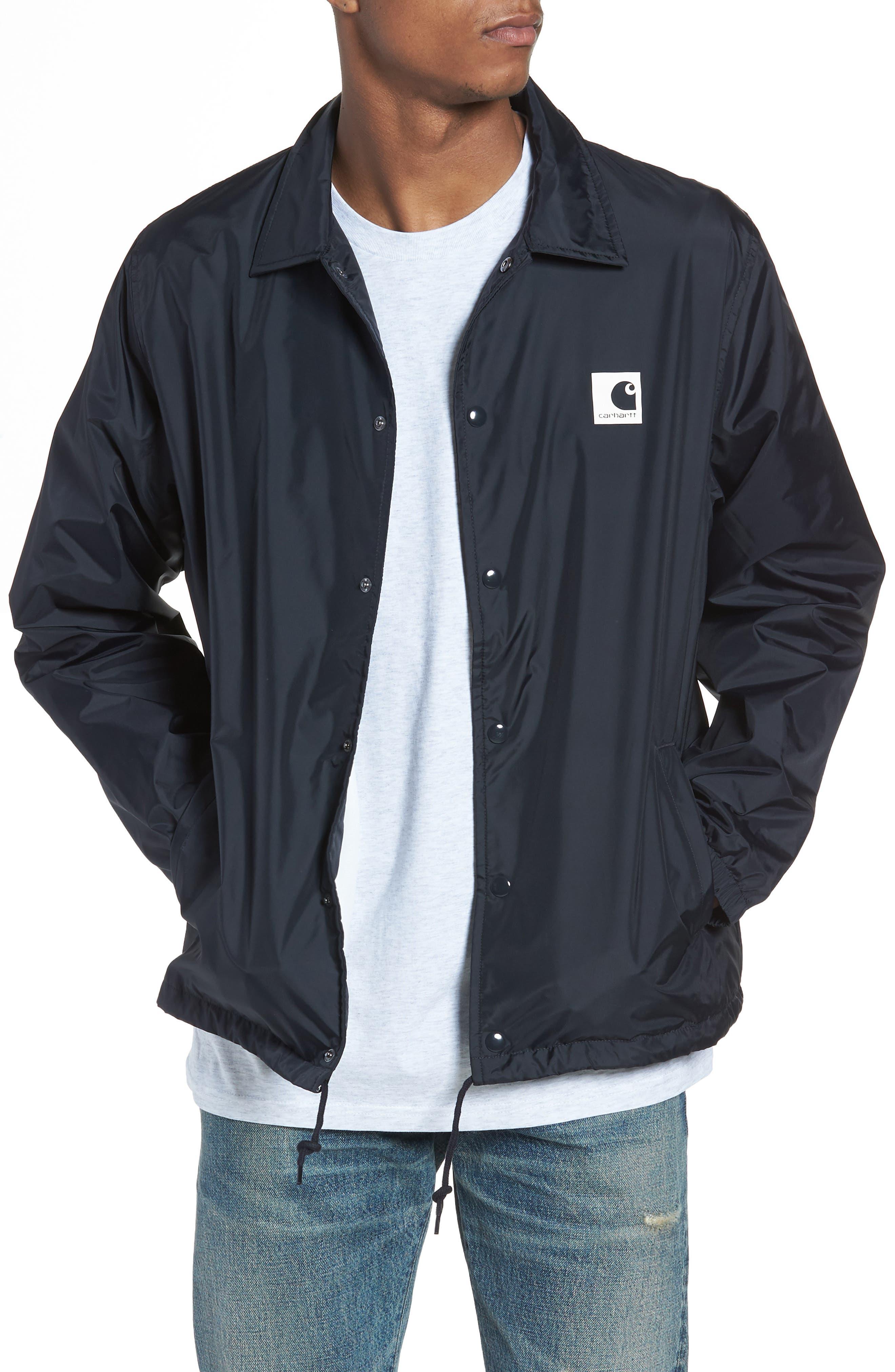 Sport Coach's Jacket,                         Main,                         color, 1C91-Dark Navy/Wax
