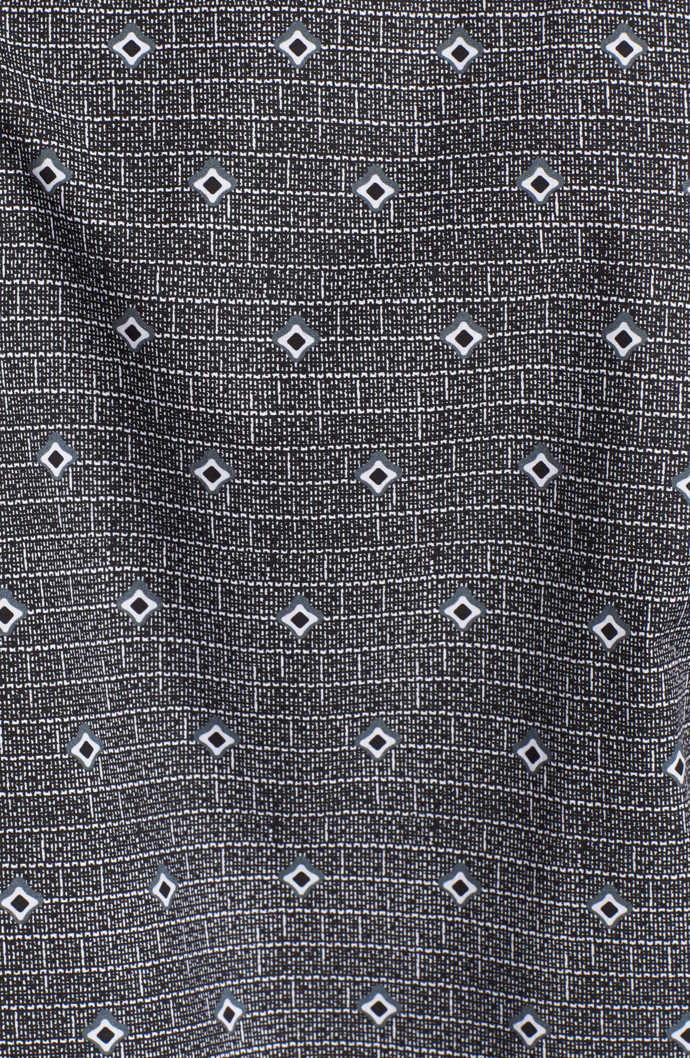 Woven Sport Shirt,                             Alternate thumbnail 5, color,                             Charcoal