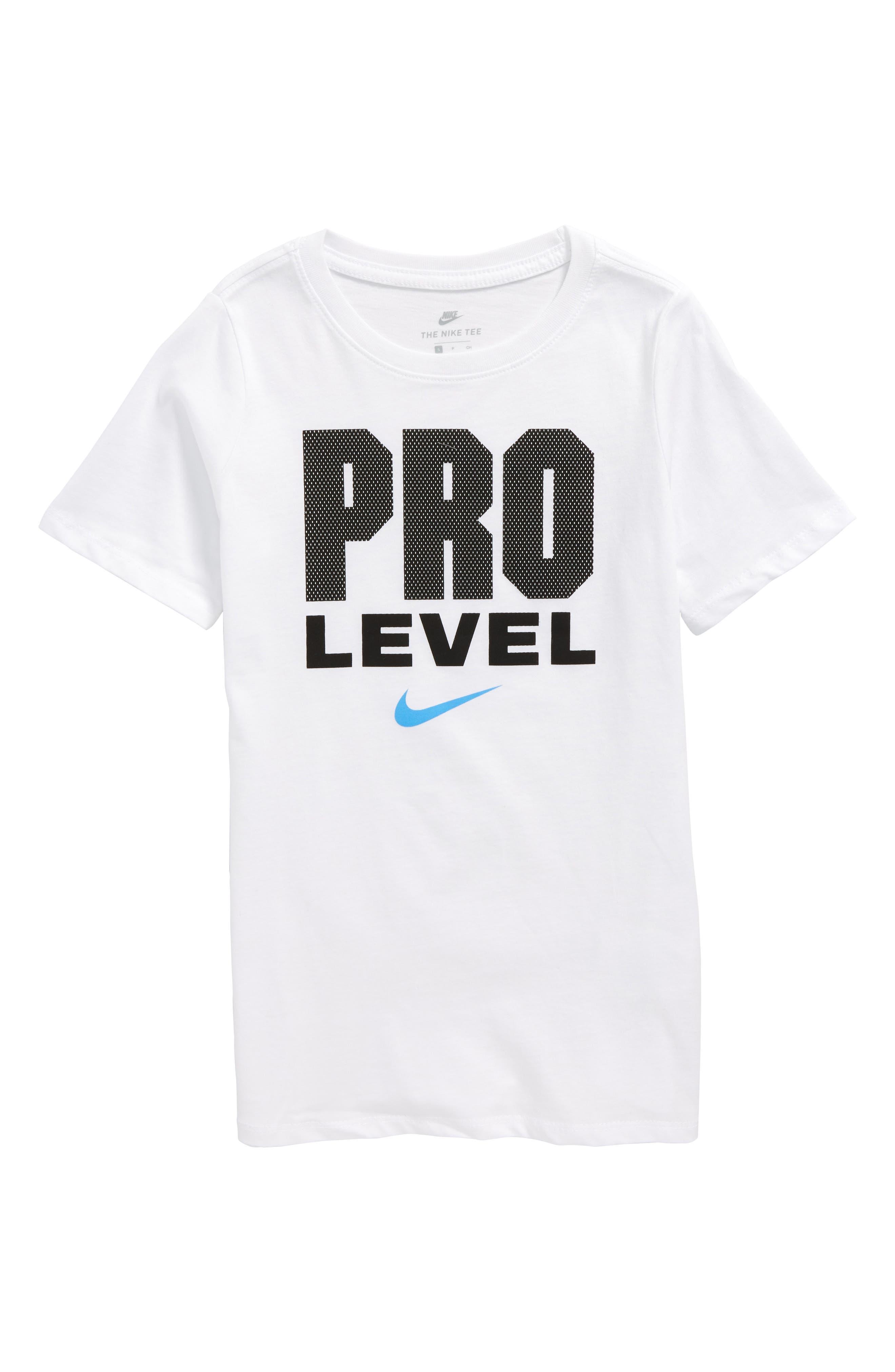 Pro Level T-Shirt,                         Main,                         color, White