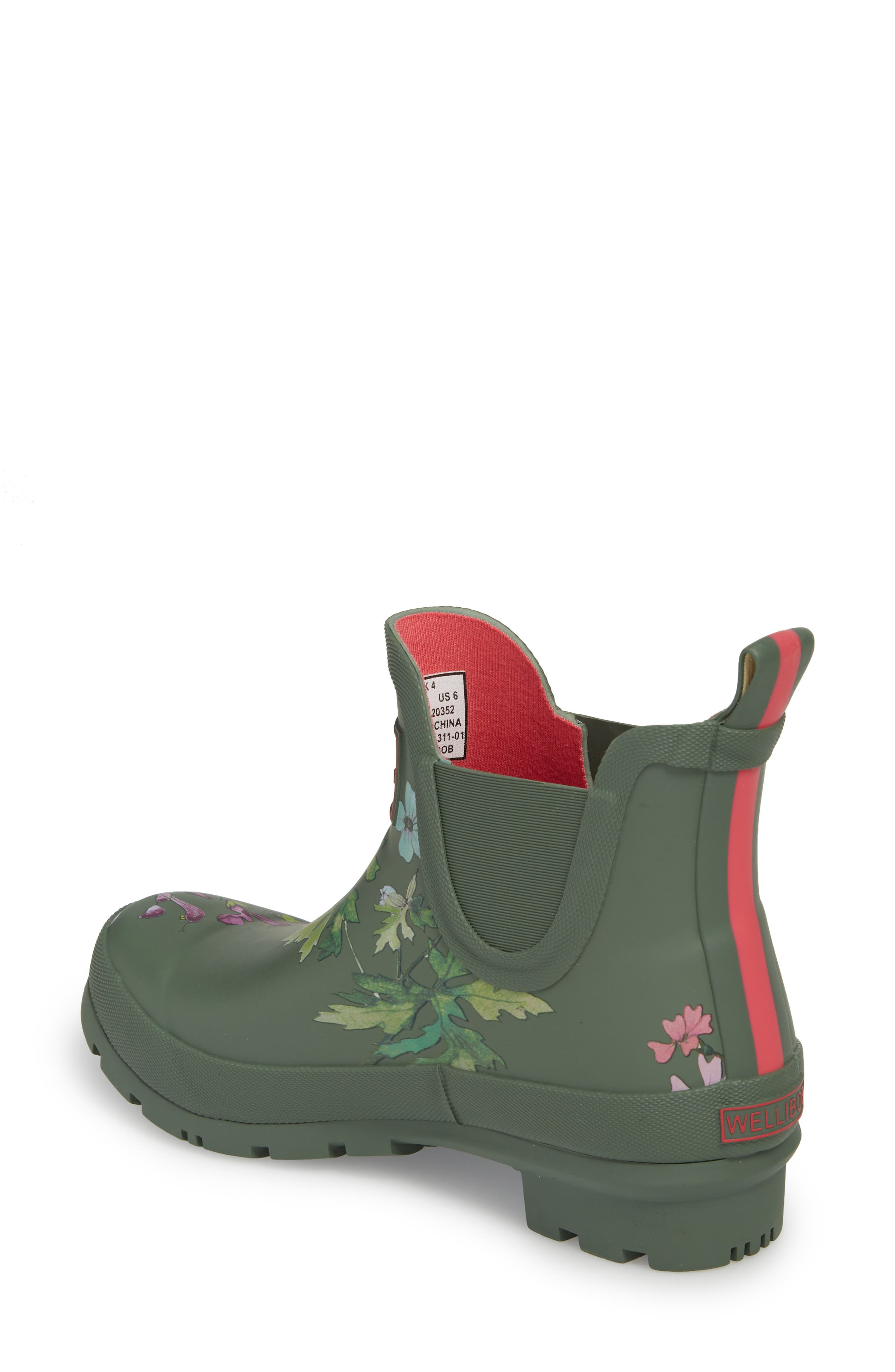 'Wellibob' Short Rain Boot,                             Alternate thumbnail 2, color,                             Laurel Botanical