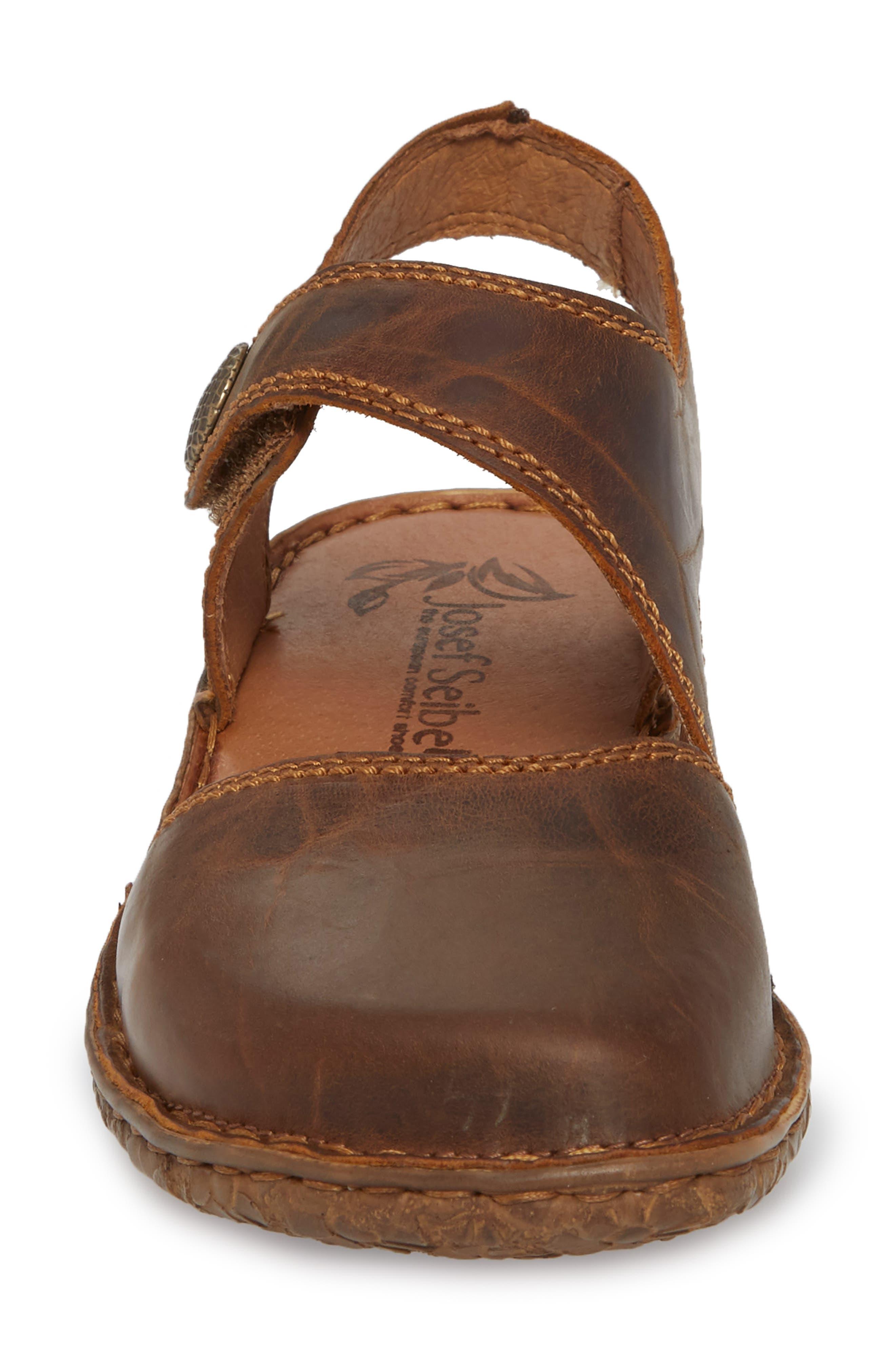 Rosalie 27 Sandal,                             Alternate thumbnail 4, color,                             Brandy Leather