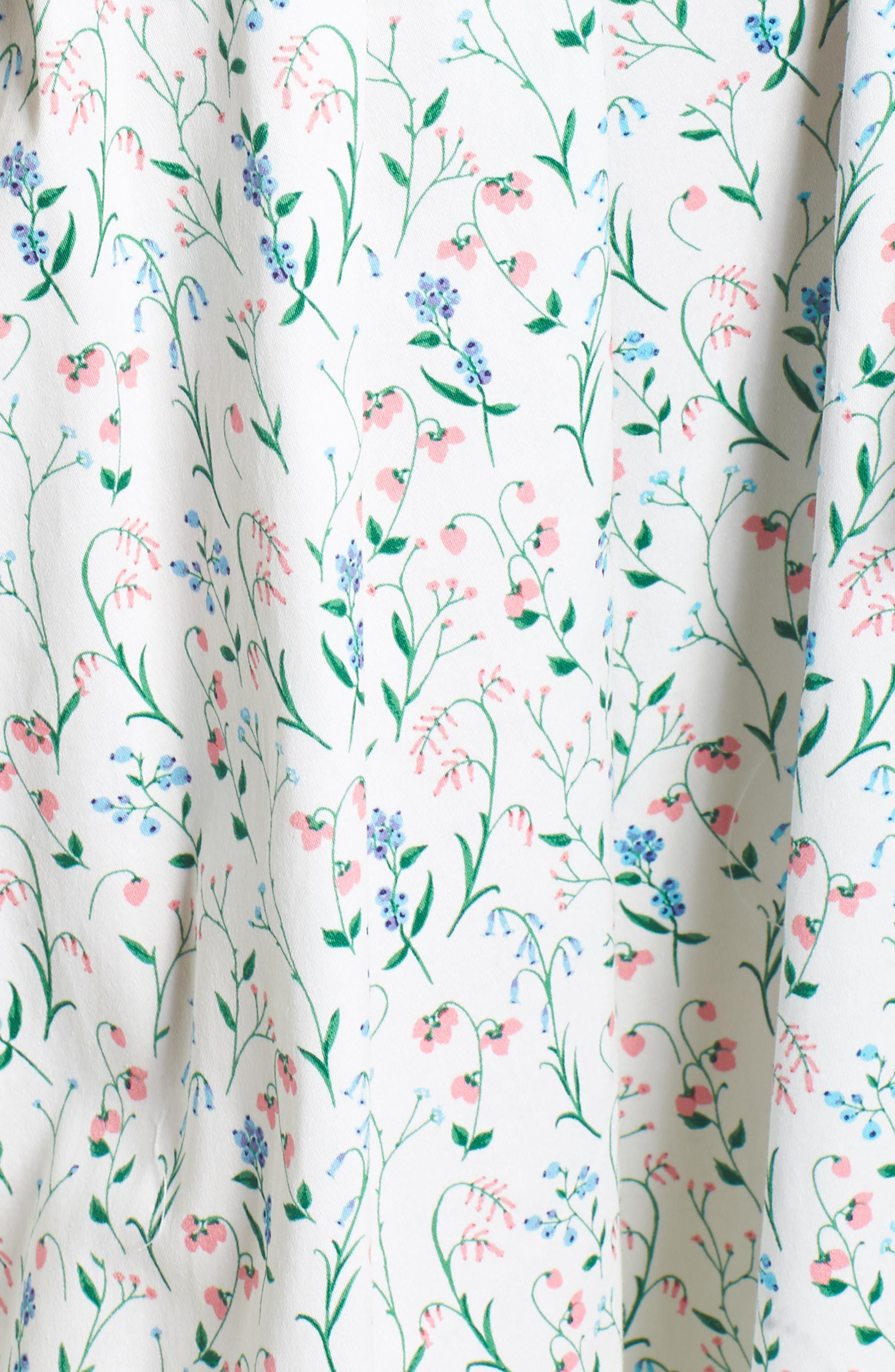 Anne Spring Sprig Print Wrap Style Dress,                             Alternate thumbnail 7, color,                             Pink