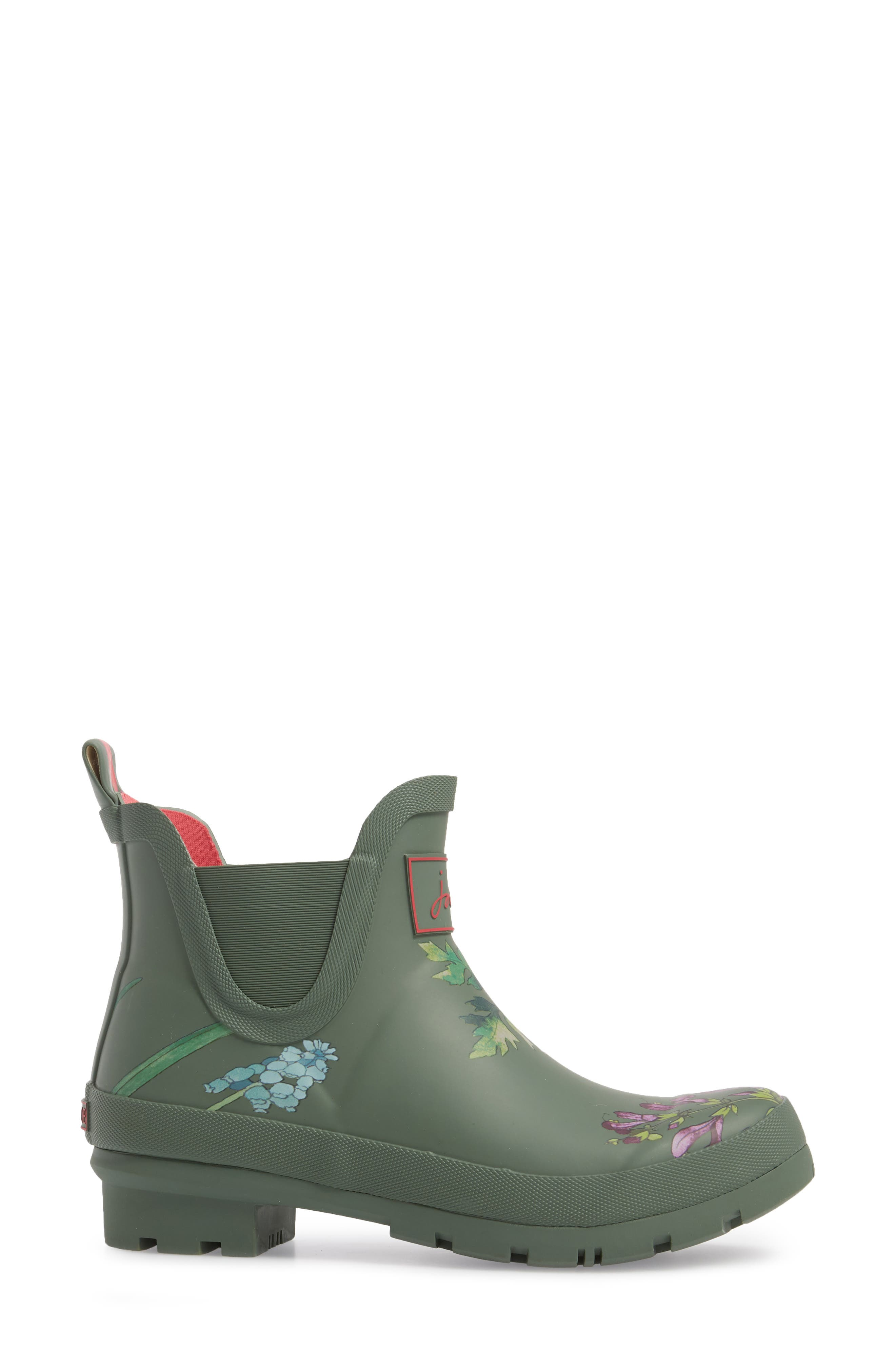'Wellibob' Short Rain Boot,                             Alternate thumbnail 3, color,                             Laurel Botanical