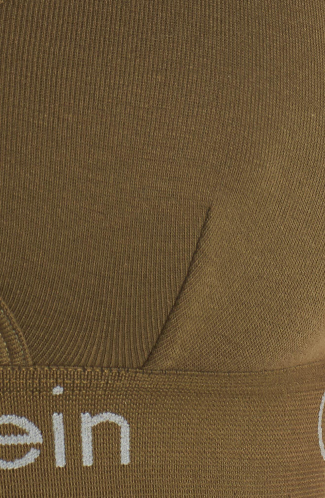 Body Cotton Bralette,                             Alternate thumbnail 8, color,                             Rifle Green