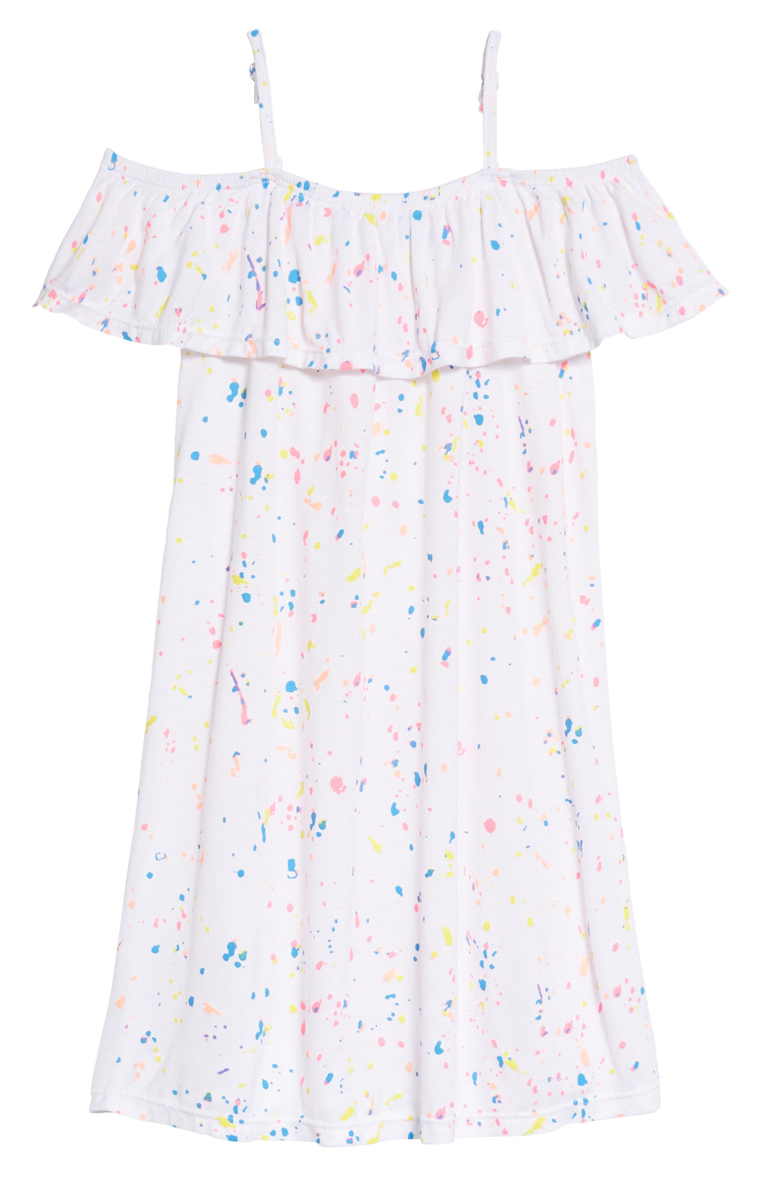 Main Image - Flowers by Zoe Splatter Dress (Little Girls & Big Girls)