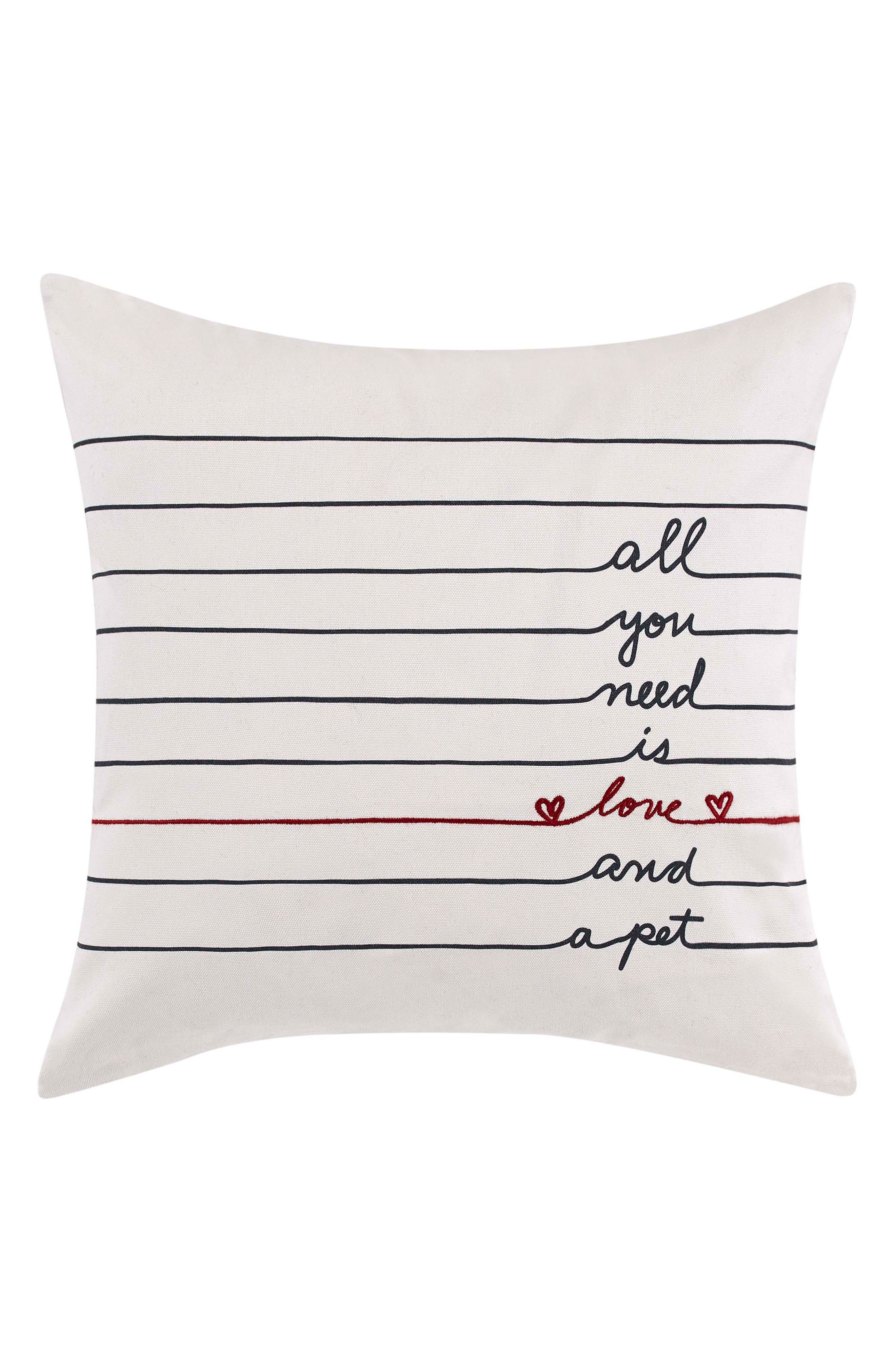 All You Need Is Love Accent Pillow,                         Main,                         color, White