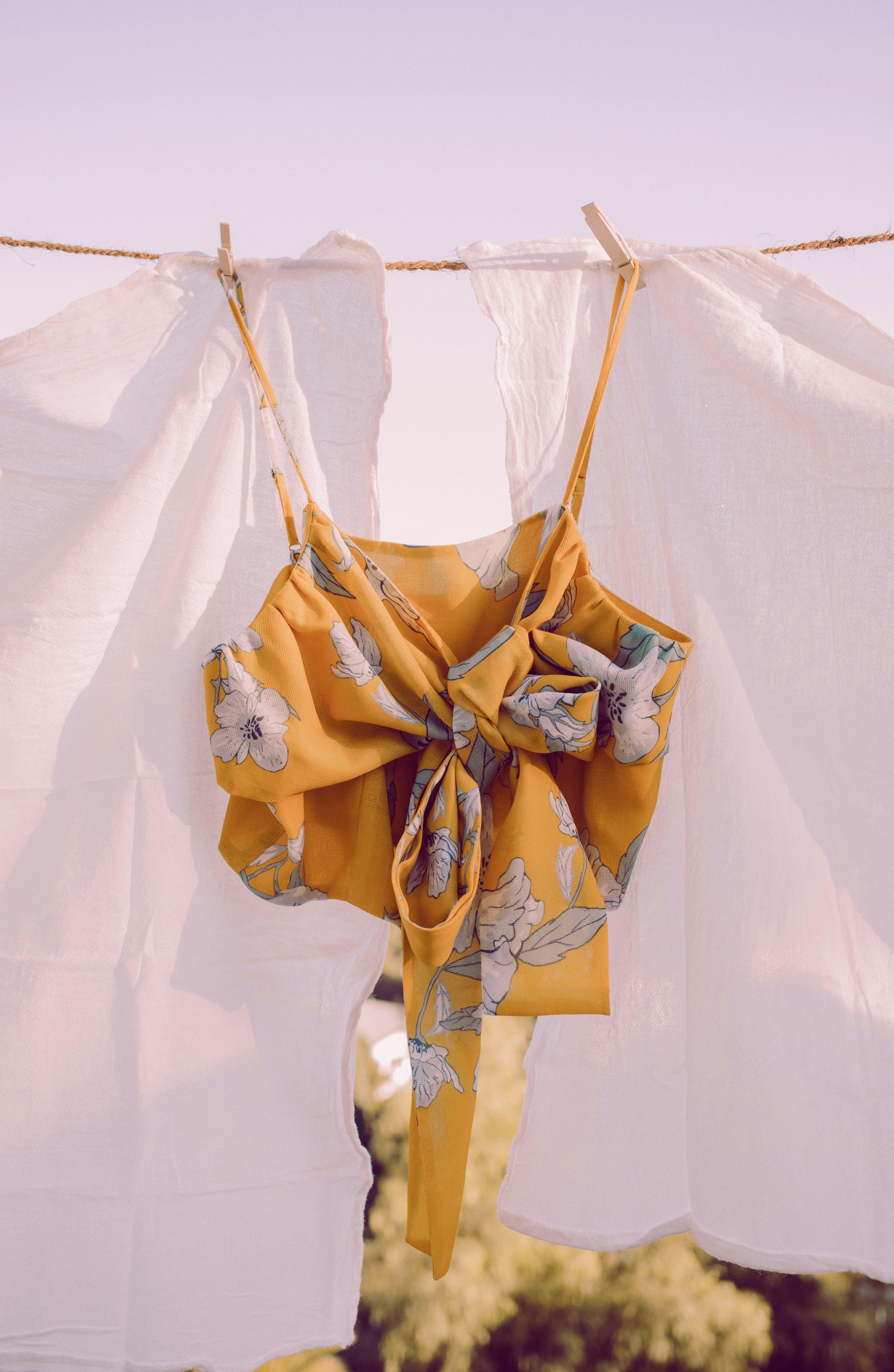 Alternate Image 11  - Chriselle x J.O.A. Tie Front Crop Top