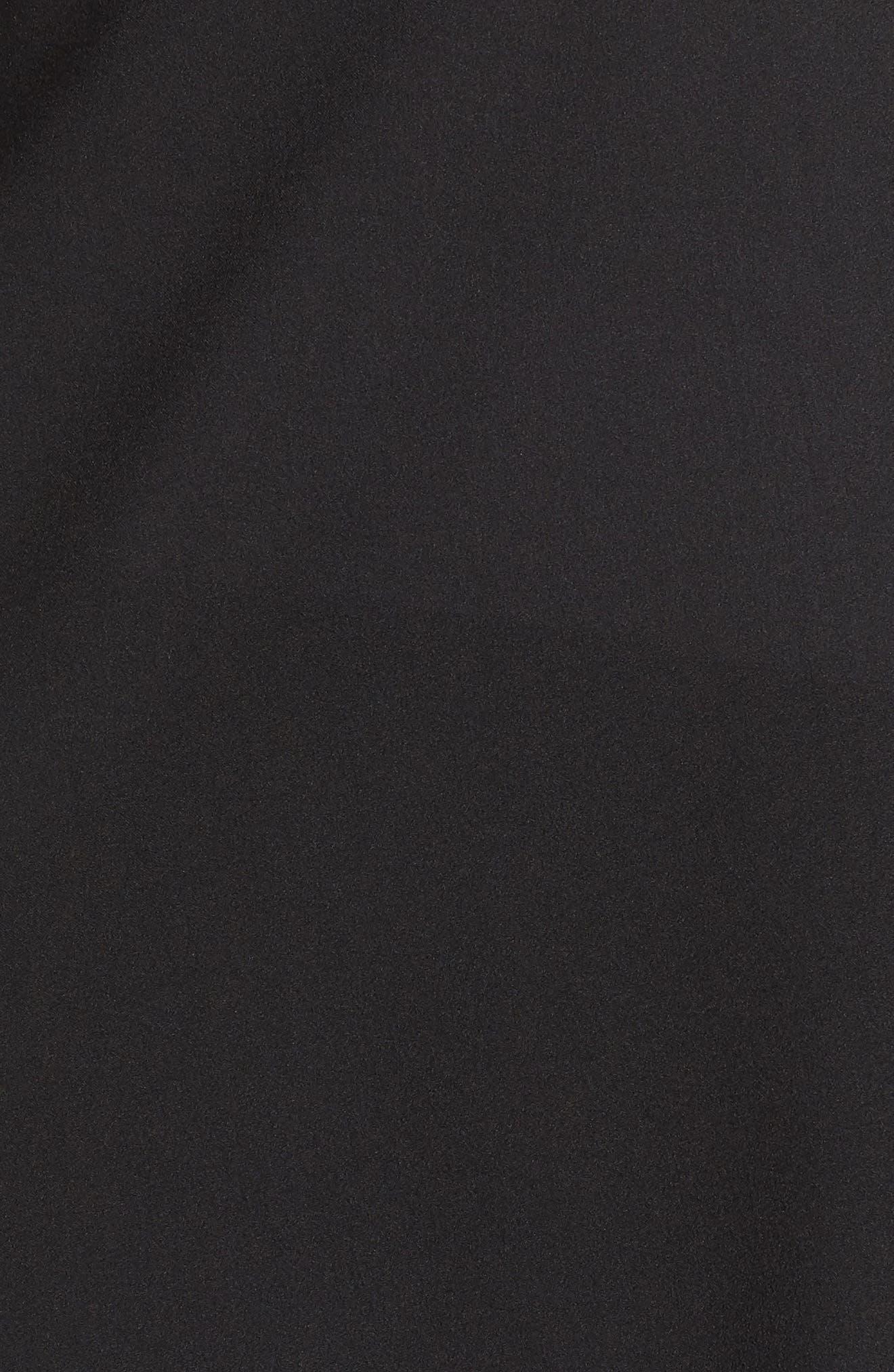 Mixed Media Cardigan,                             Alternate thumbnail 6, color,                             Black