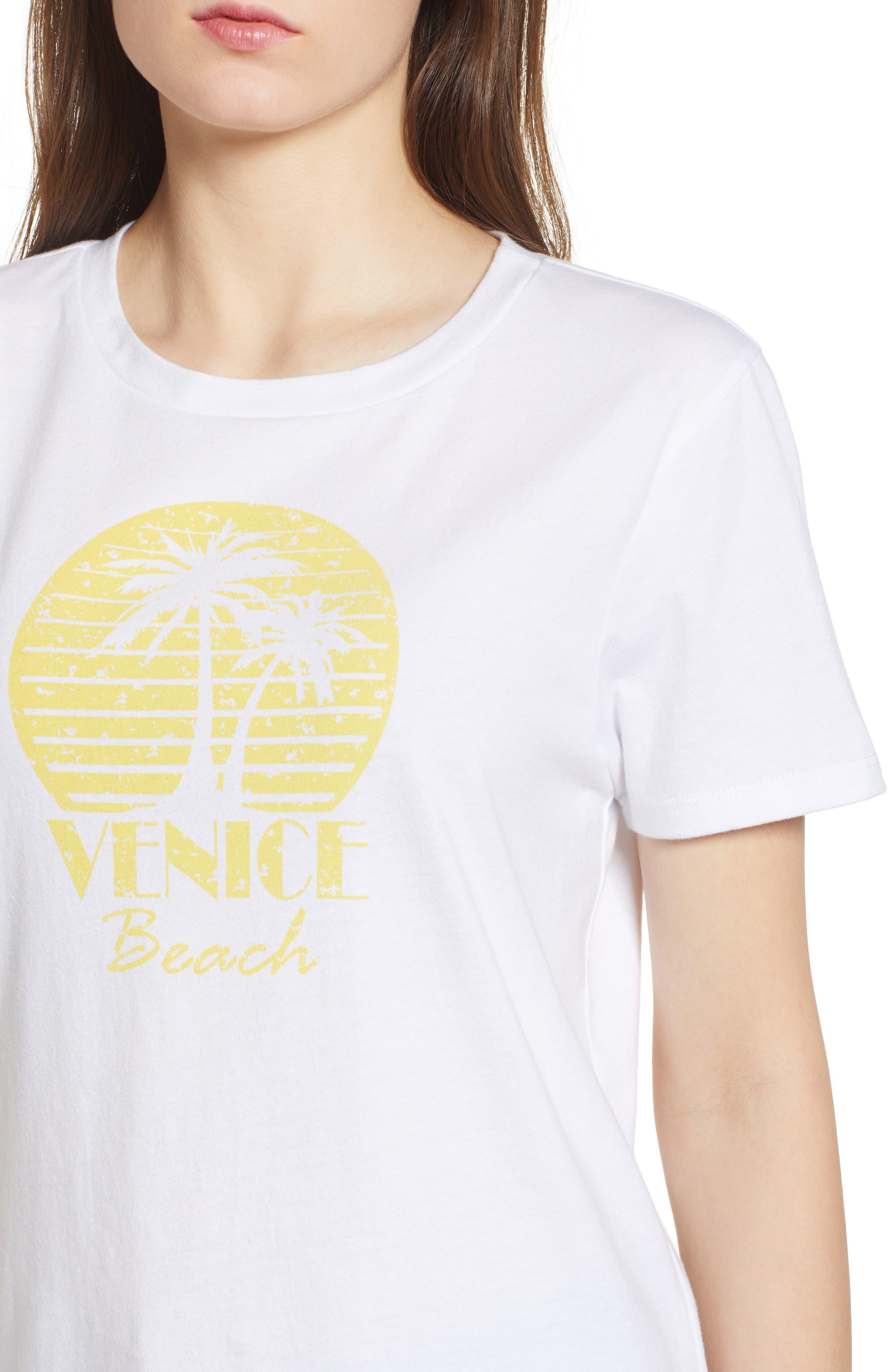 Venice Beach Graphic Tee,                             Alternate thumbnail 4, color,                             White