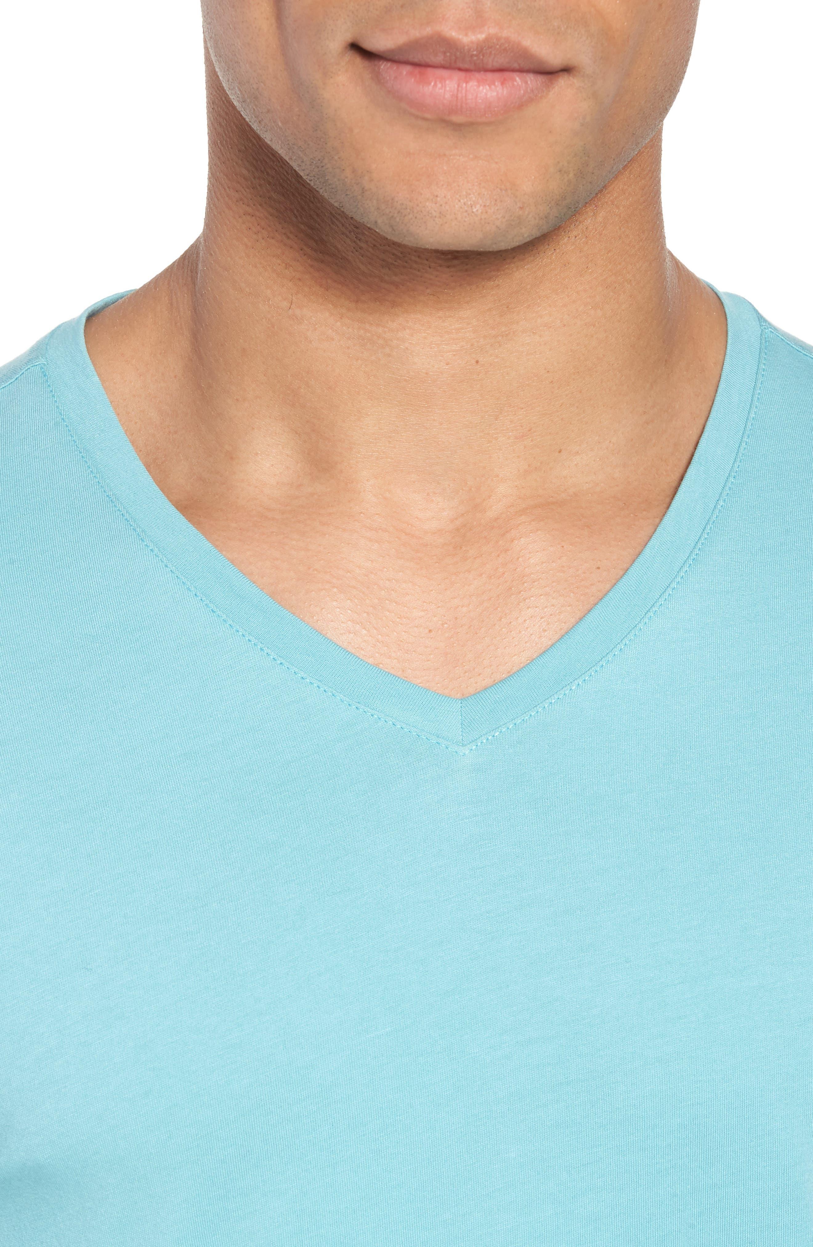 Mercer V-Neck T-Shirt,                             Alternate thumbnail 2, color,                             Aqua