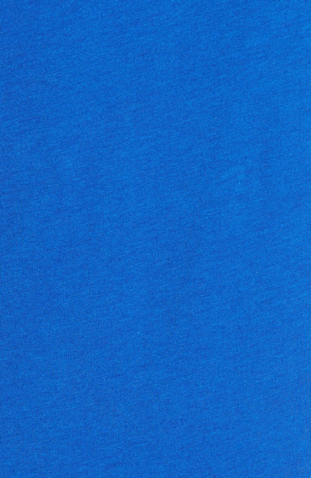 Twist Front Cotton Blend Tank,                             Alternate thumbnail 6, color,                             Colonial Blue