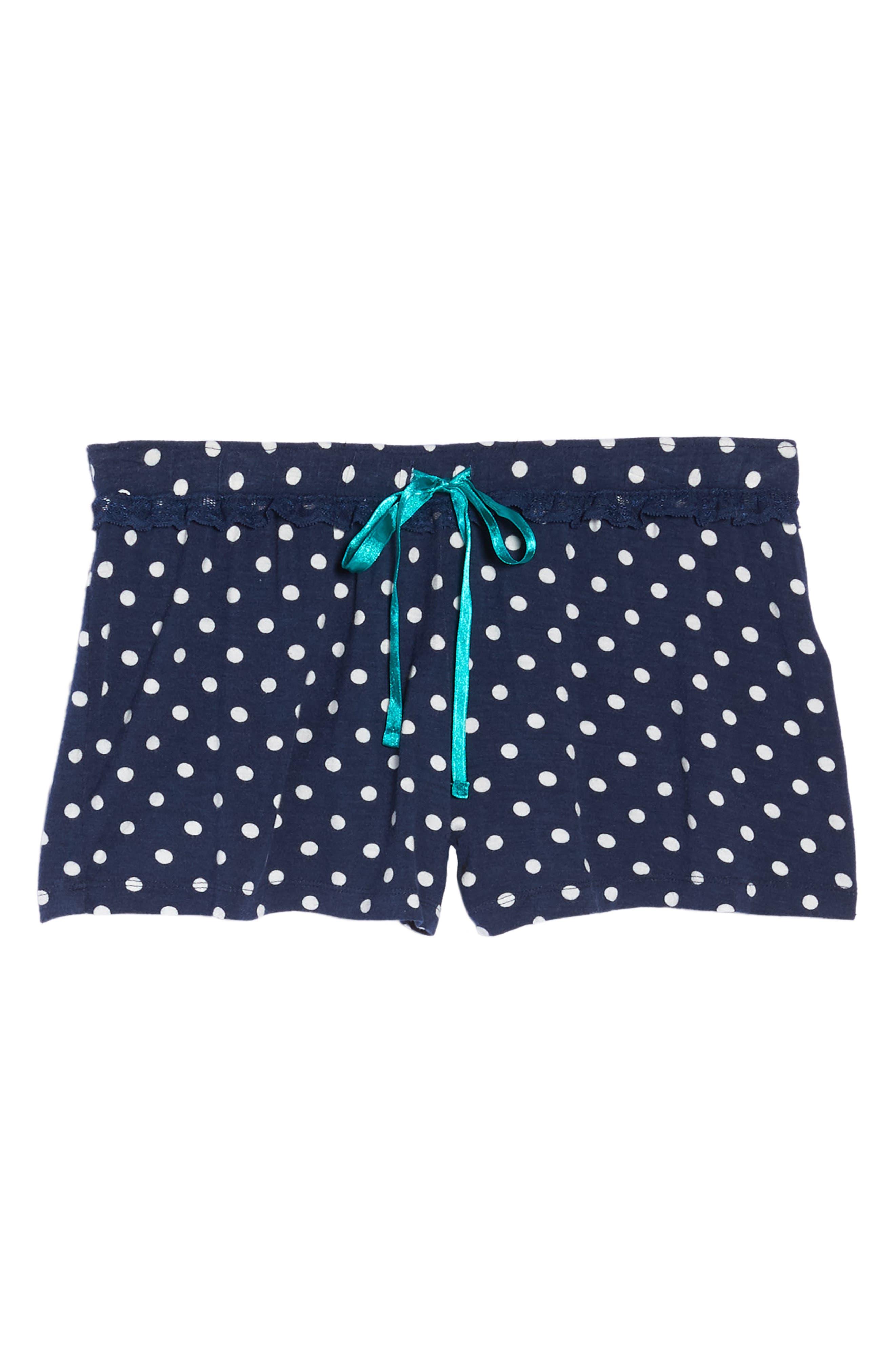 Pajama Shorts,                             Alternate thumbnail 6, color,                             Navy