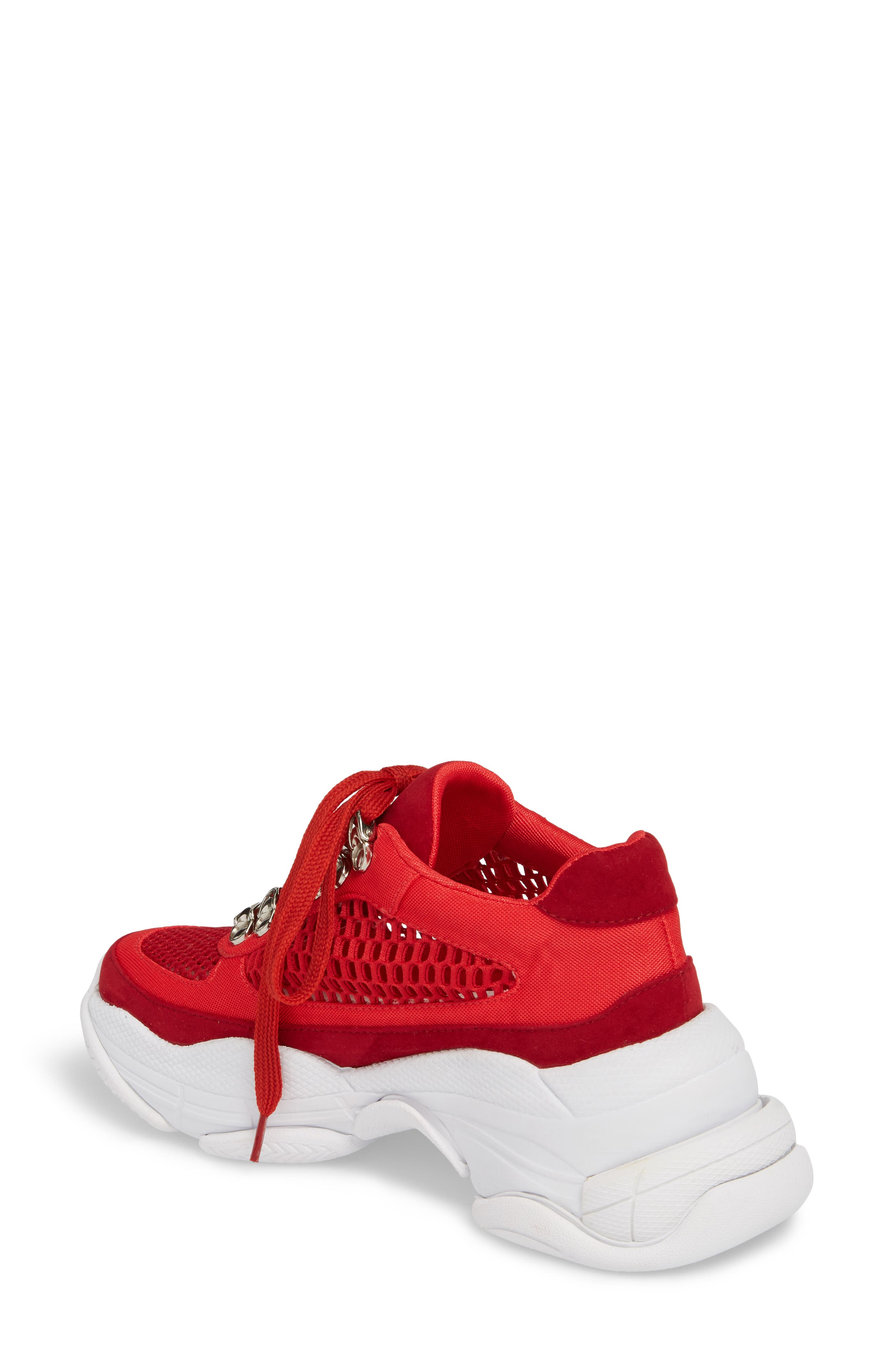 Hotspot Lace-Up Sneaker,                             Alternate thumbnail 2, color,                             Red