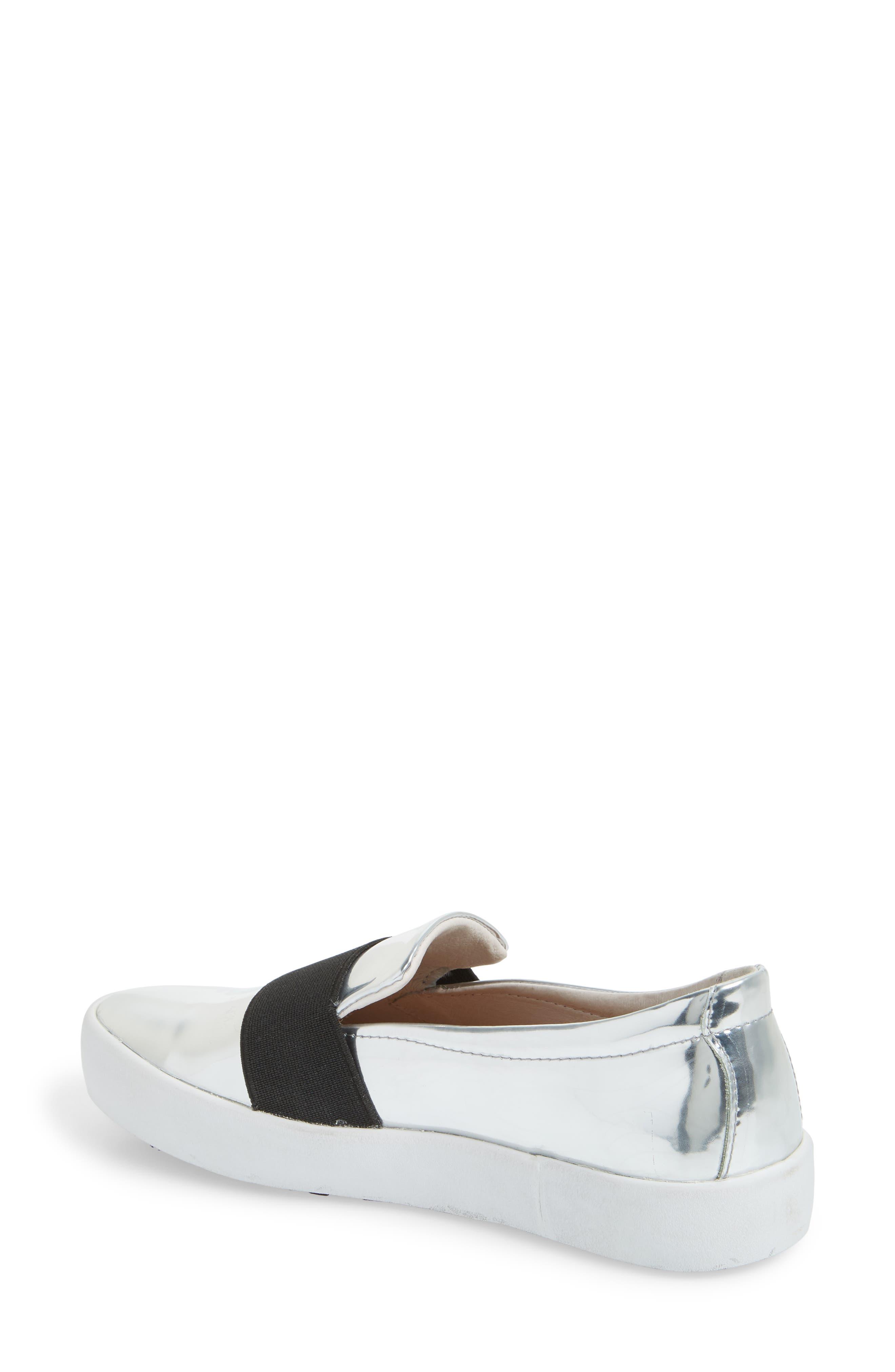 PL99 Slip-On Sneaker,                             Alternate thumbnail 2, color,                             Silver Leather
