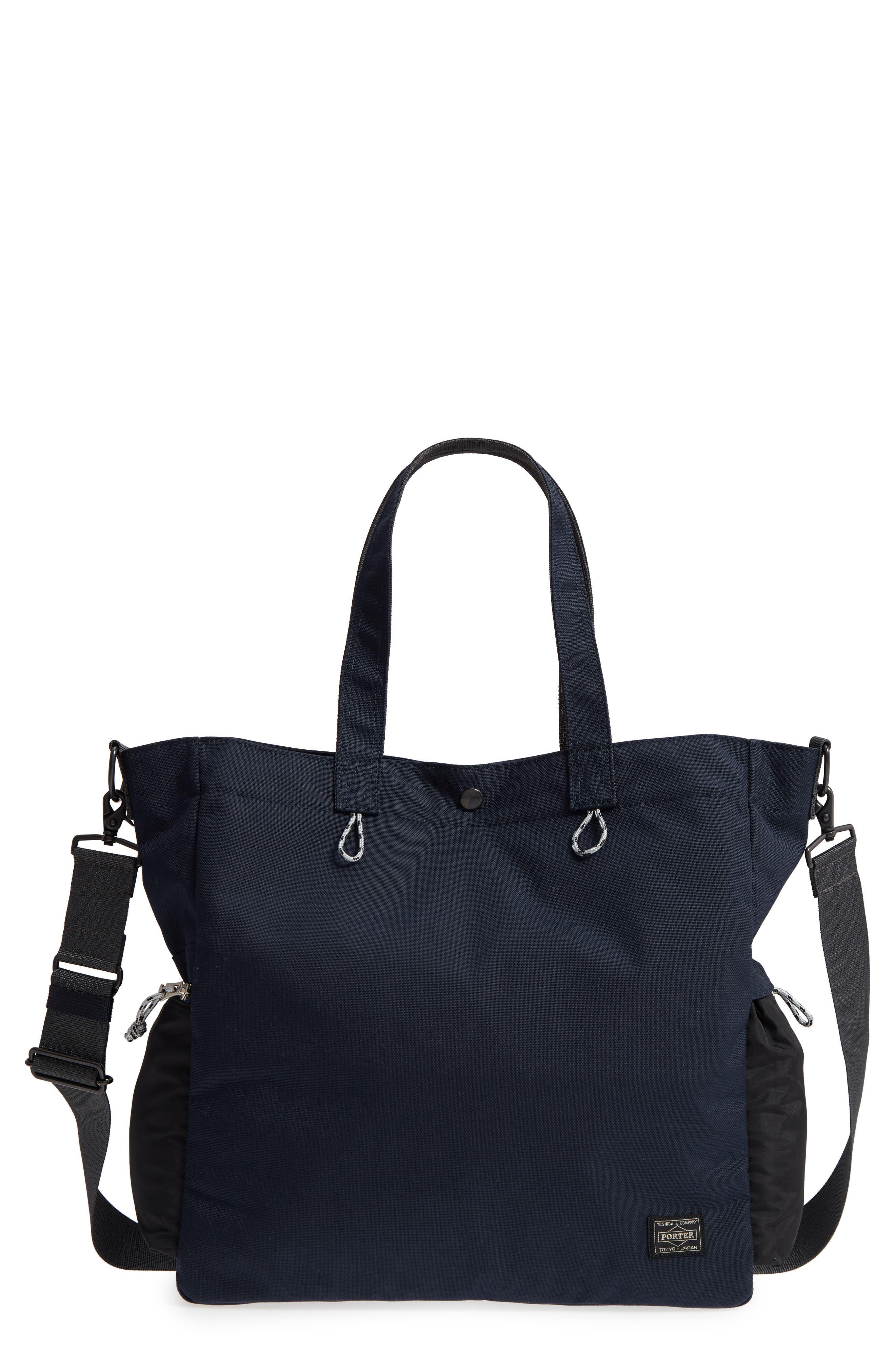 Porter-Yoshida & Co. Hype Tote Bag,                             Main thumbnail 1, color,                             Navy/ Black