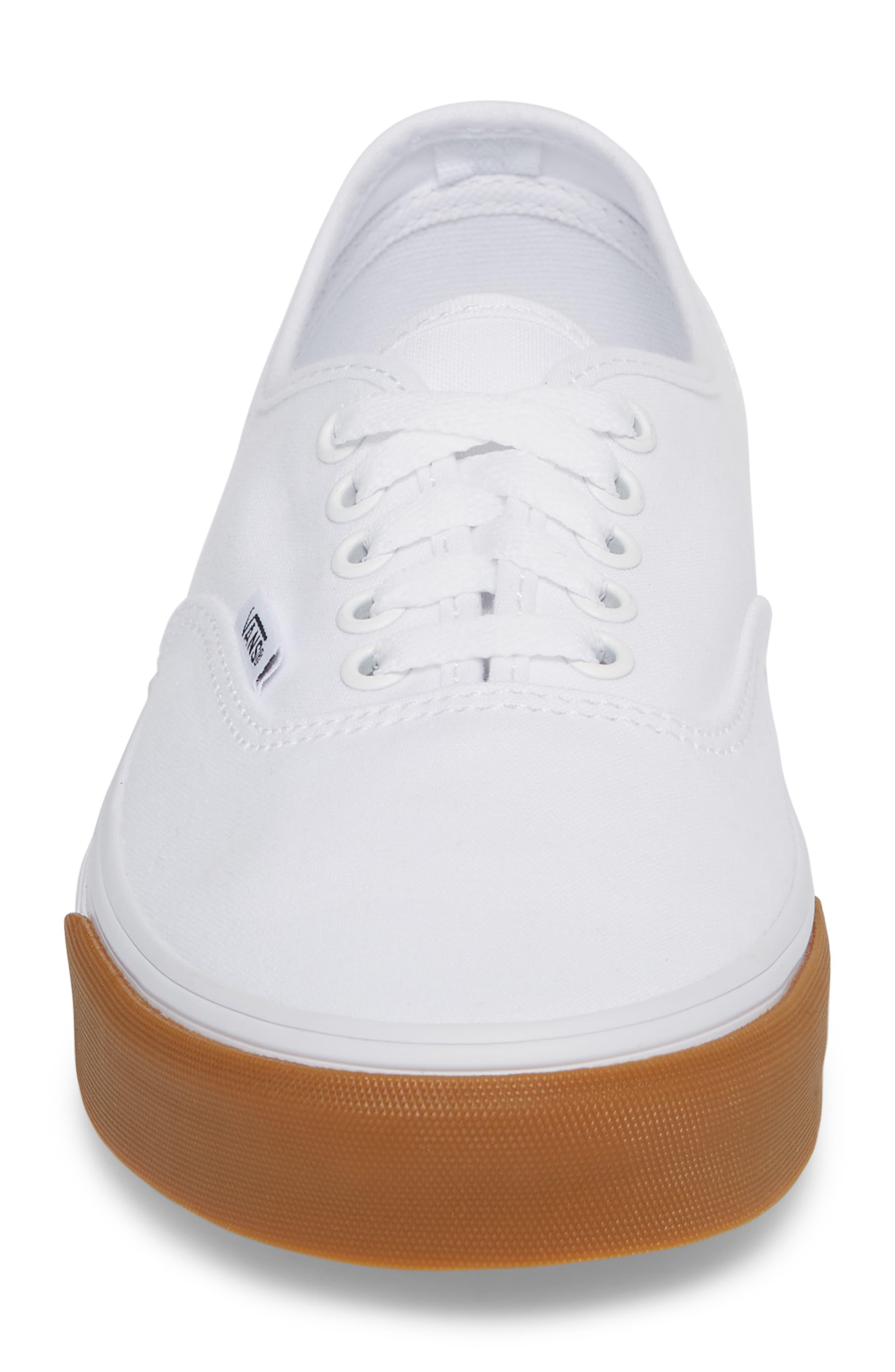 Authentic Gum Bumper Sneaker,                             Alternate thumbnail 4, color,                             True White/ True White