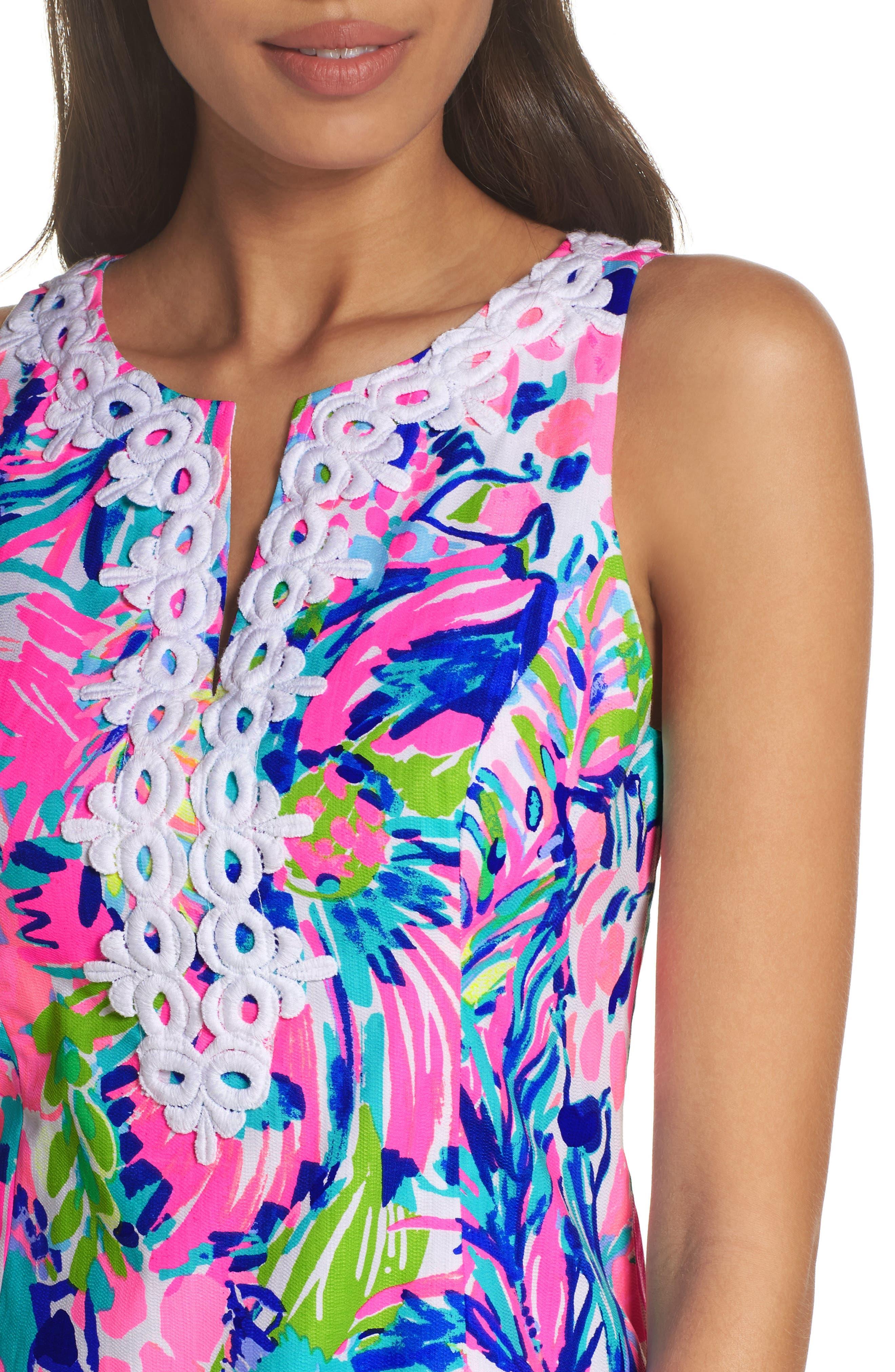 Gabby Tropical Print Dress,                             Alternate thumbnail 4, color,                             Multi Gumbo Limbo