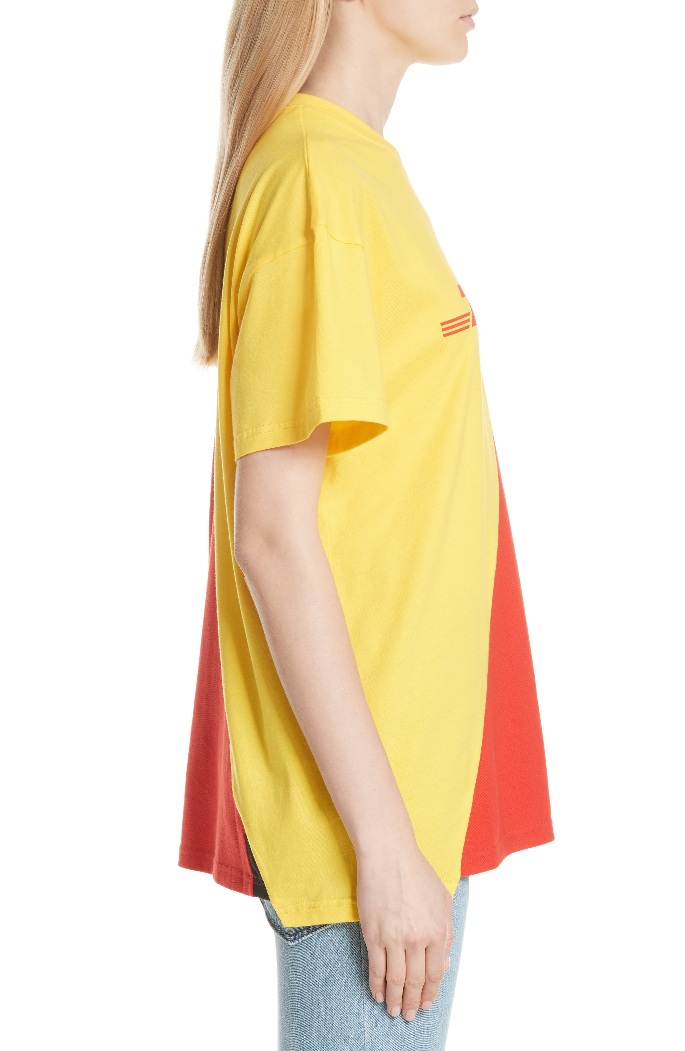 DHL Cut-Up Tee,                             Alternate thumbnail 3, color,                             Yellow