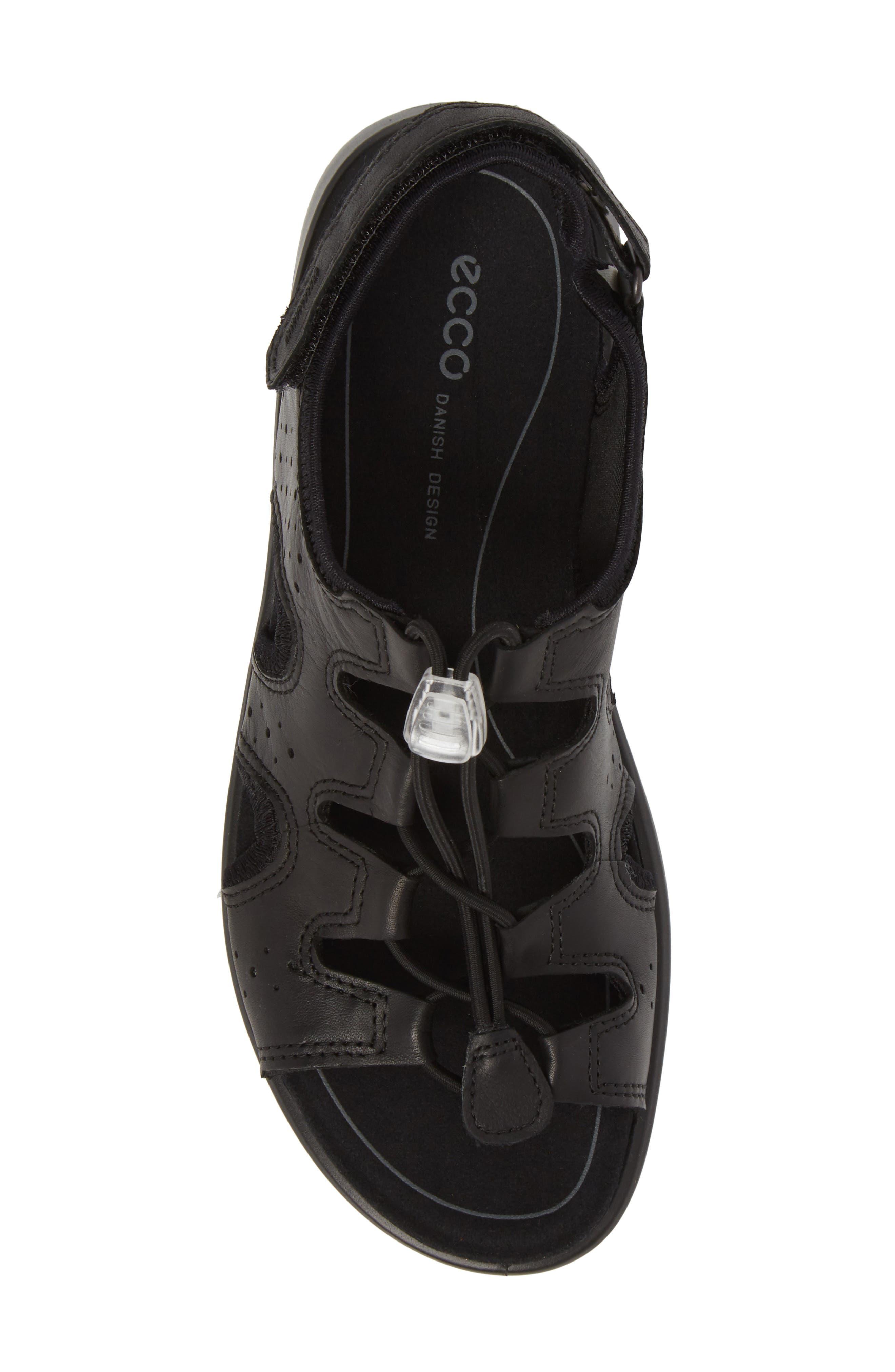 Bluma Toggle Sandal,                             Alternate thumbnail 5, color,                             Black Leather