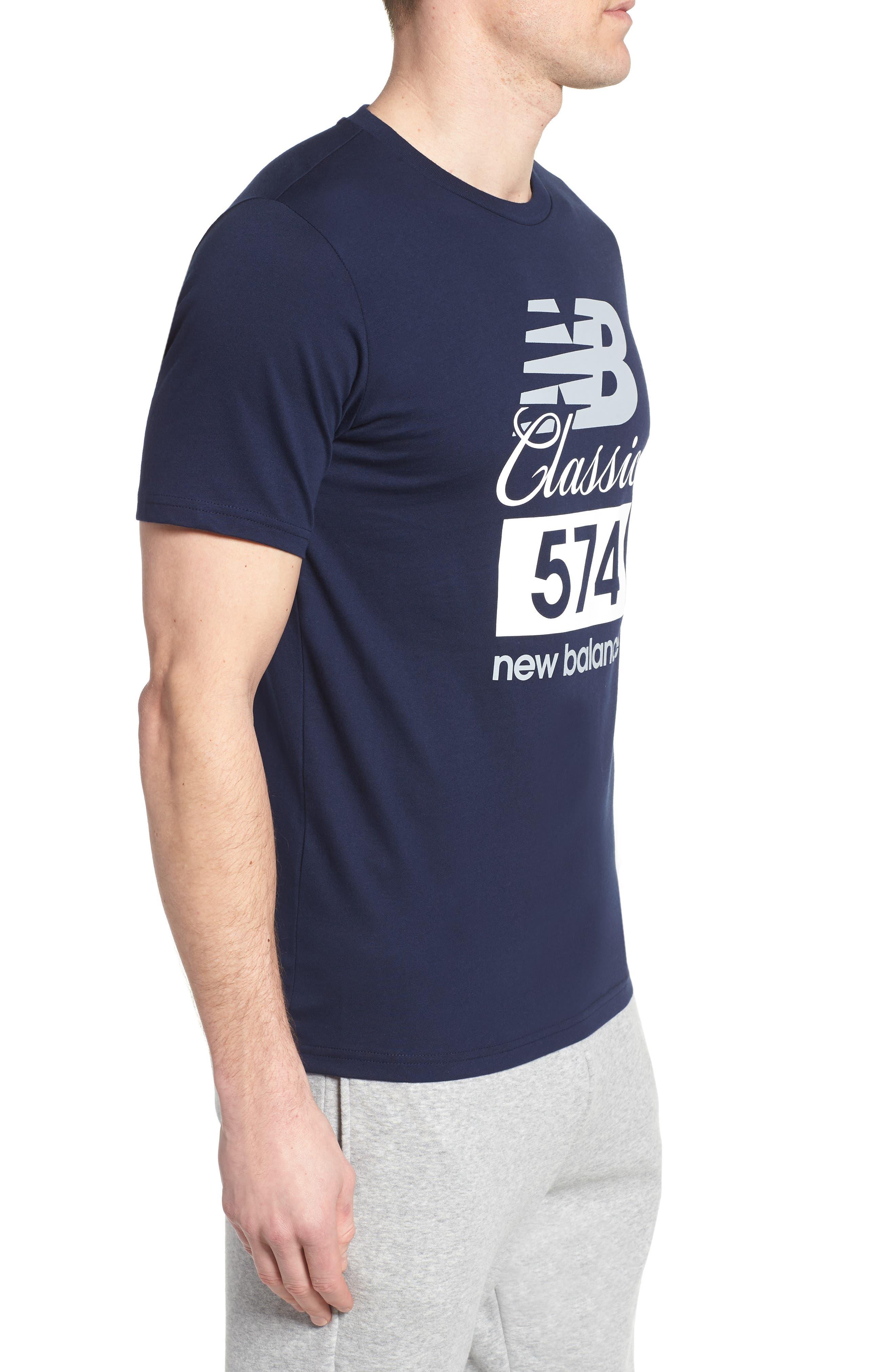 Athletics Classic 574 Crewneck T-Shirt,                             Alternate thumbnail 3, color,                             Pigment