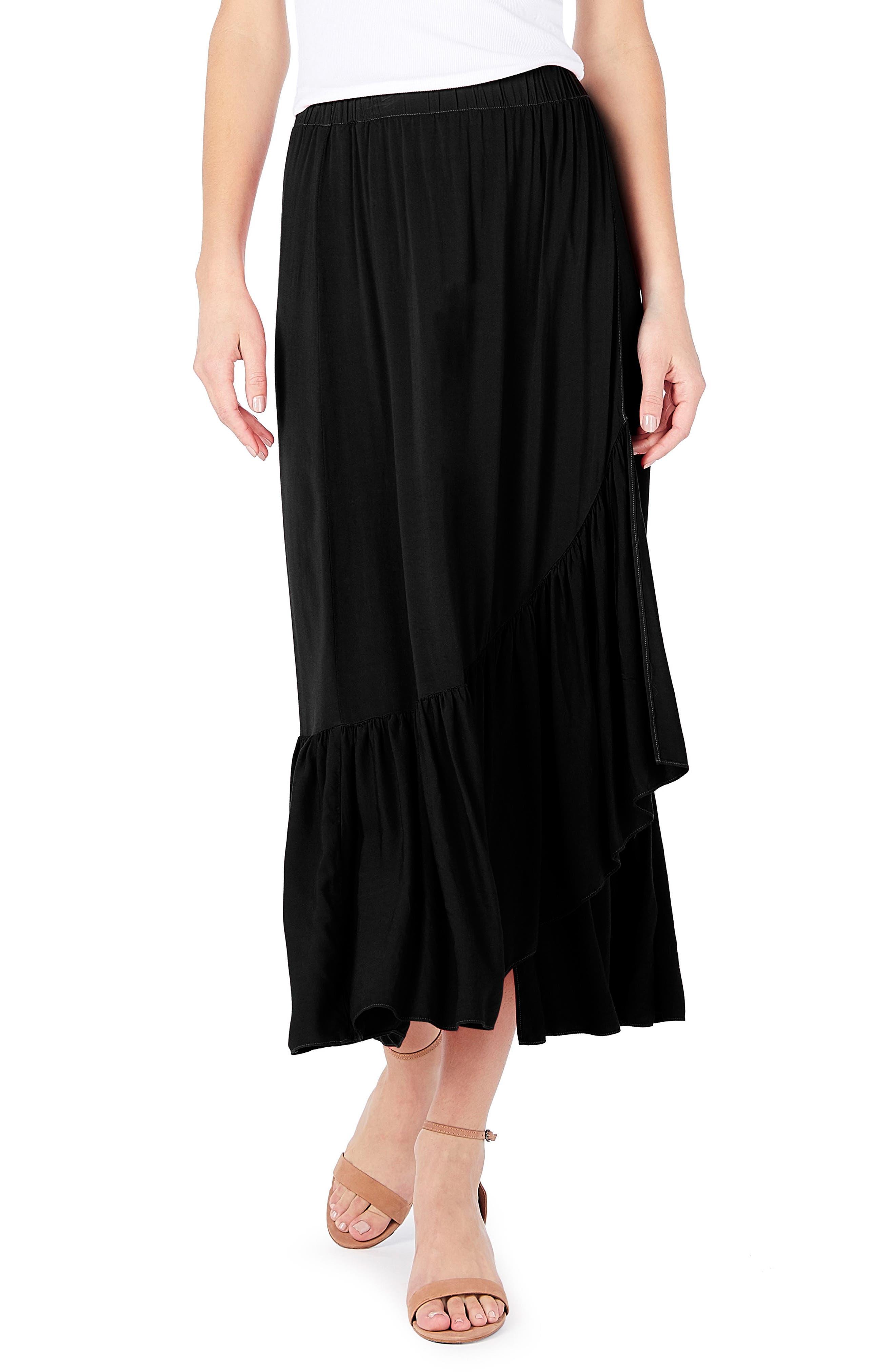 Michael Stars Faux Wrap Midi Skirt