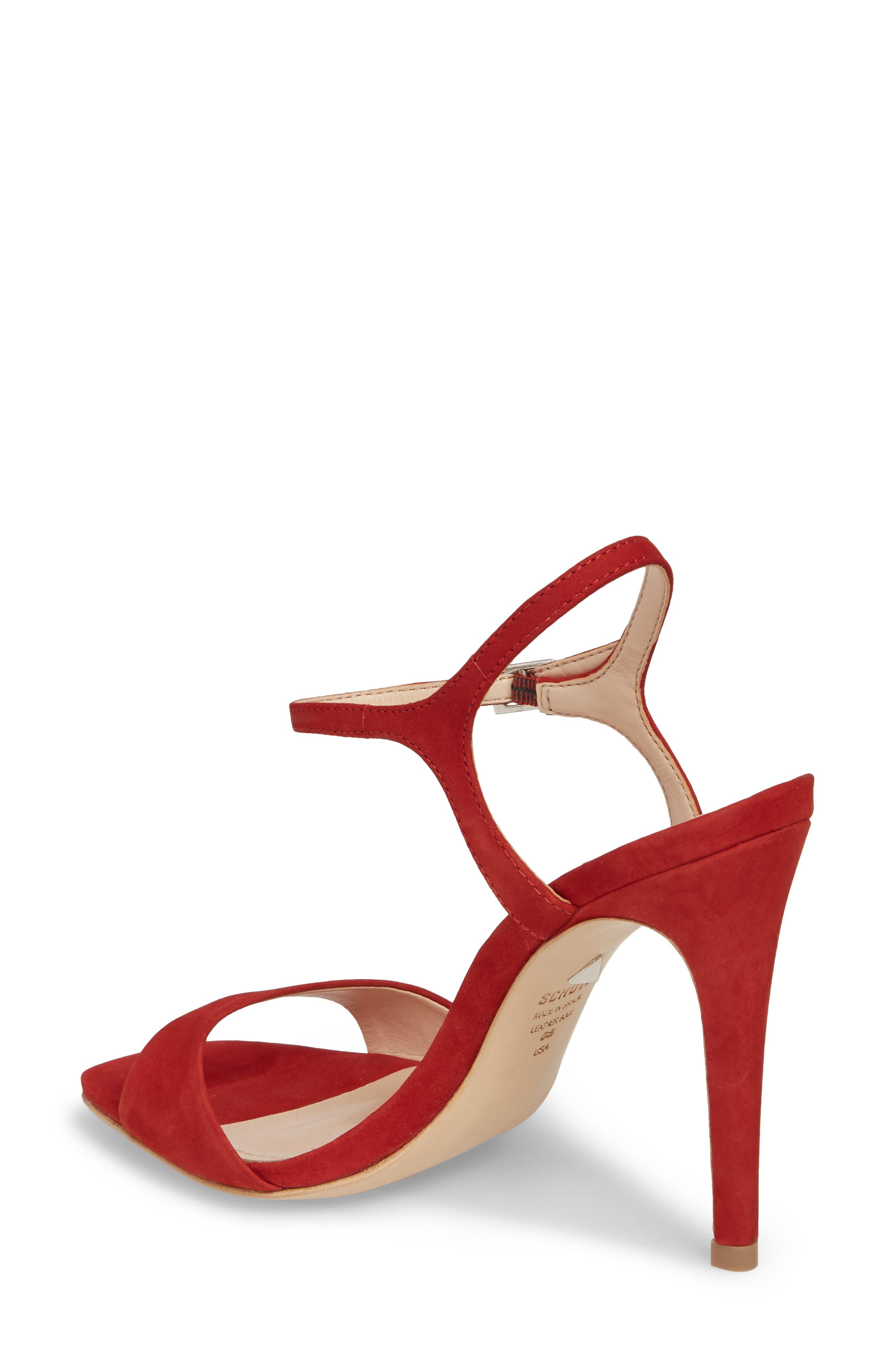 Jade Ankle Strap Sandal,                             Alternate thumbnail 2, color,                             Tango Red