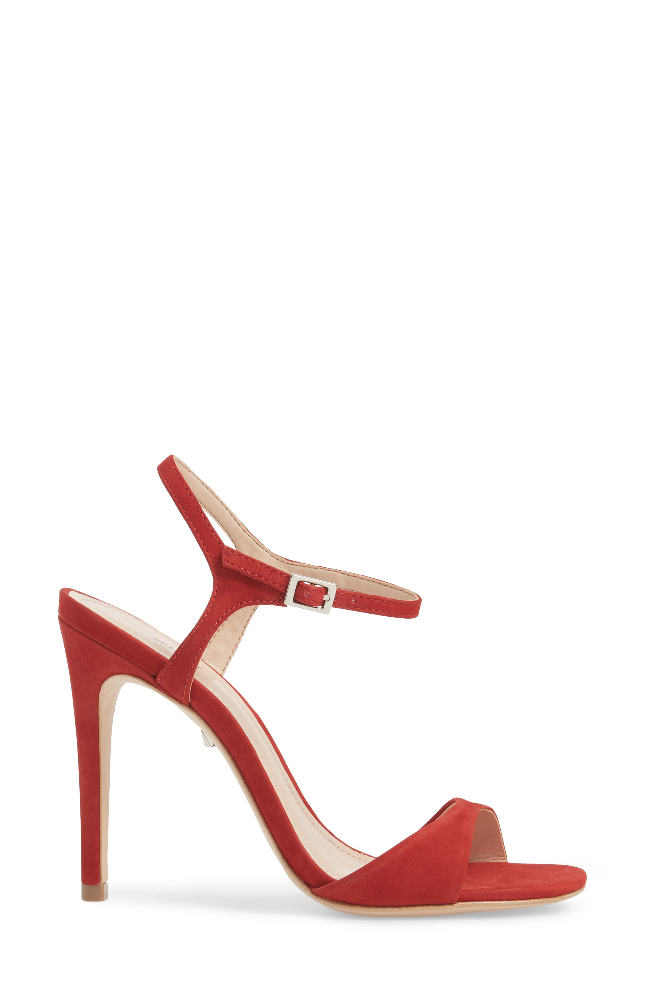 Jade Ankle Strap Sandal,                             Alternate thumbnail 3, color,                             Tango Red