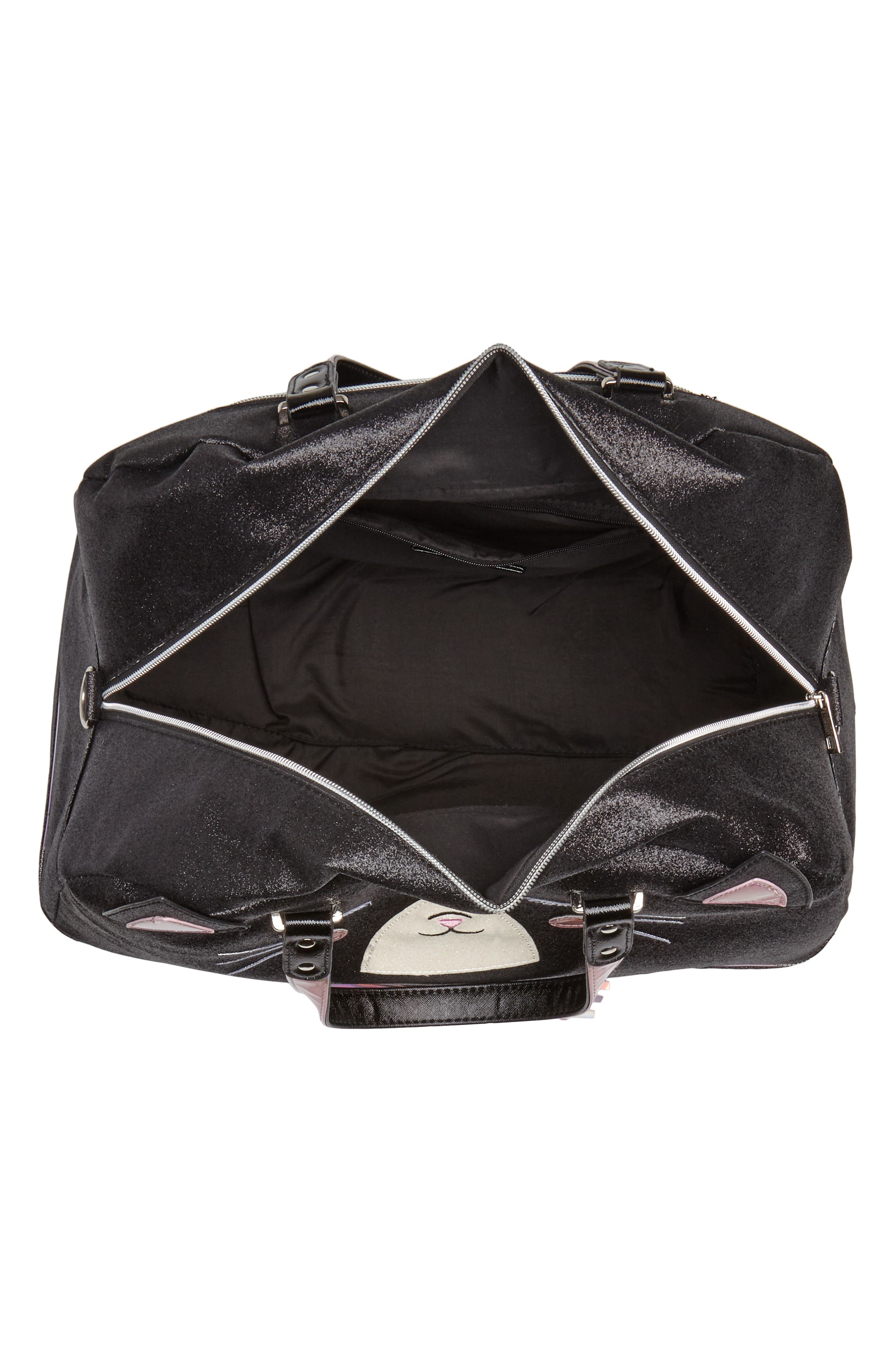 Duffel Bag,                             Alternate thumbnail 4, color,                             Black Kitty