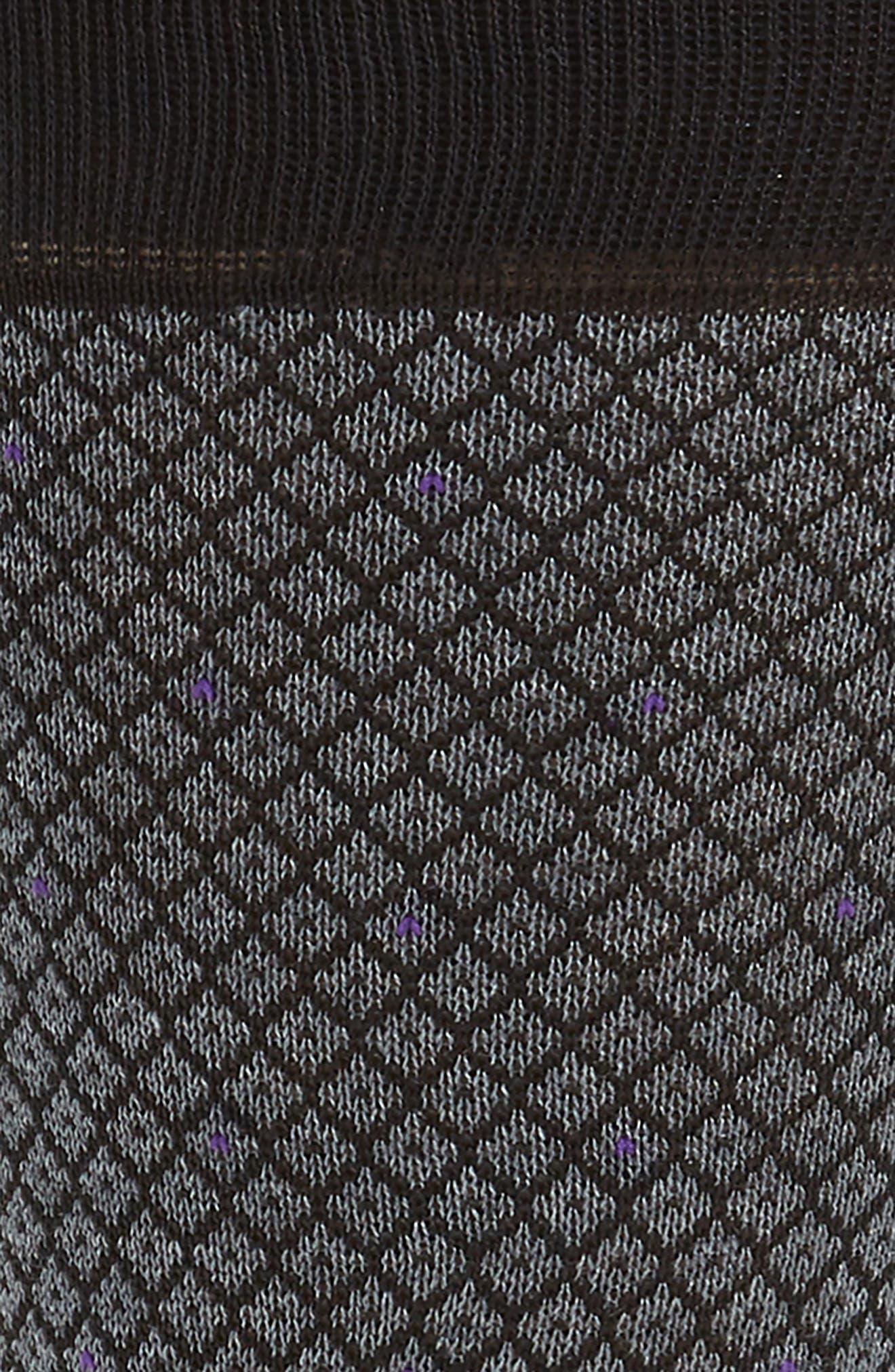Diamond Jacquard Socks,                             Alternate thumbnail 2, color,                             Charcoal
