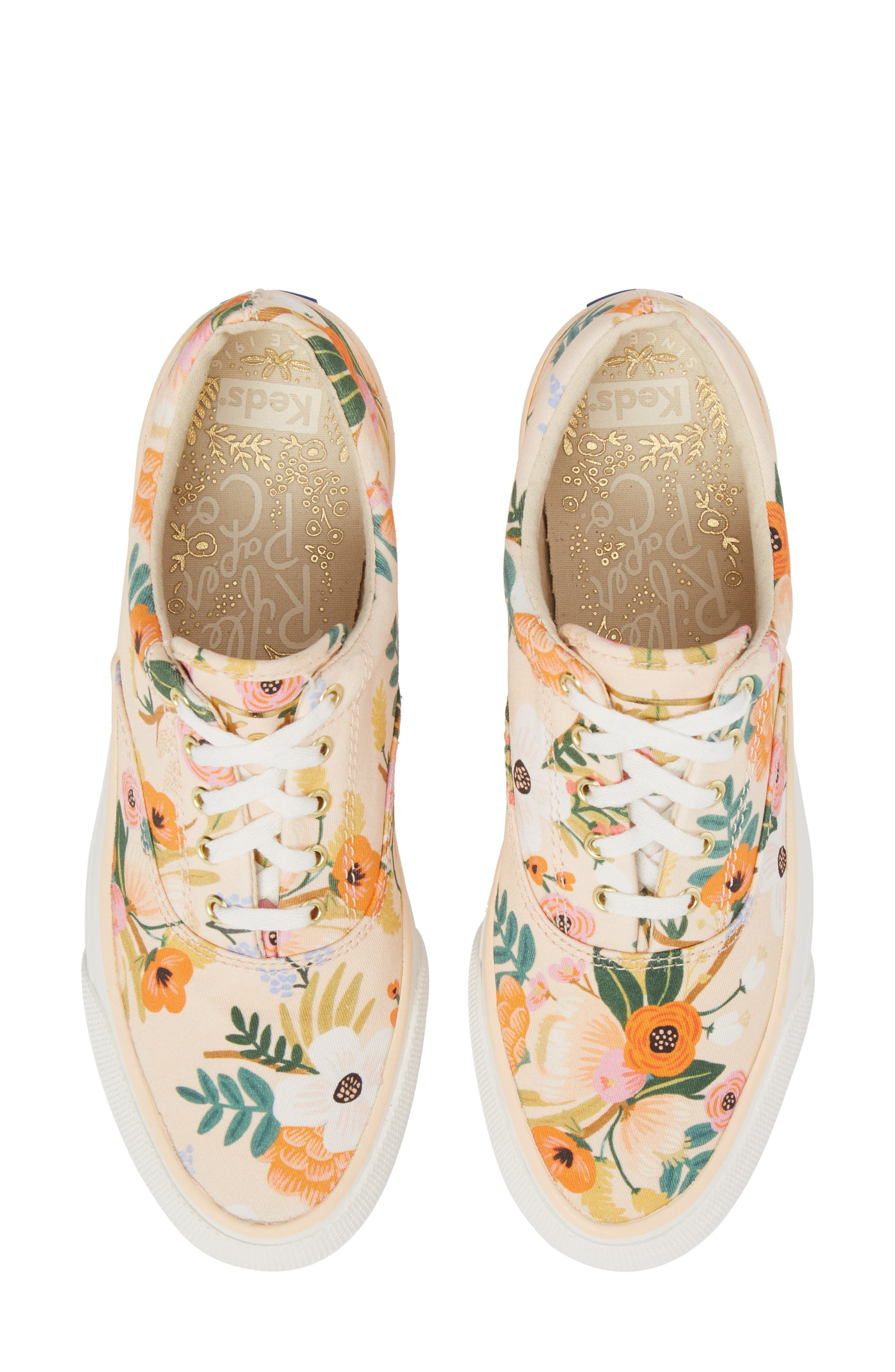 x Rifle Paper Co. Anchor Lively Floral Slip-On Sneaker,                             Main thumbnail 1, color,                             Pink