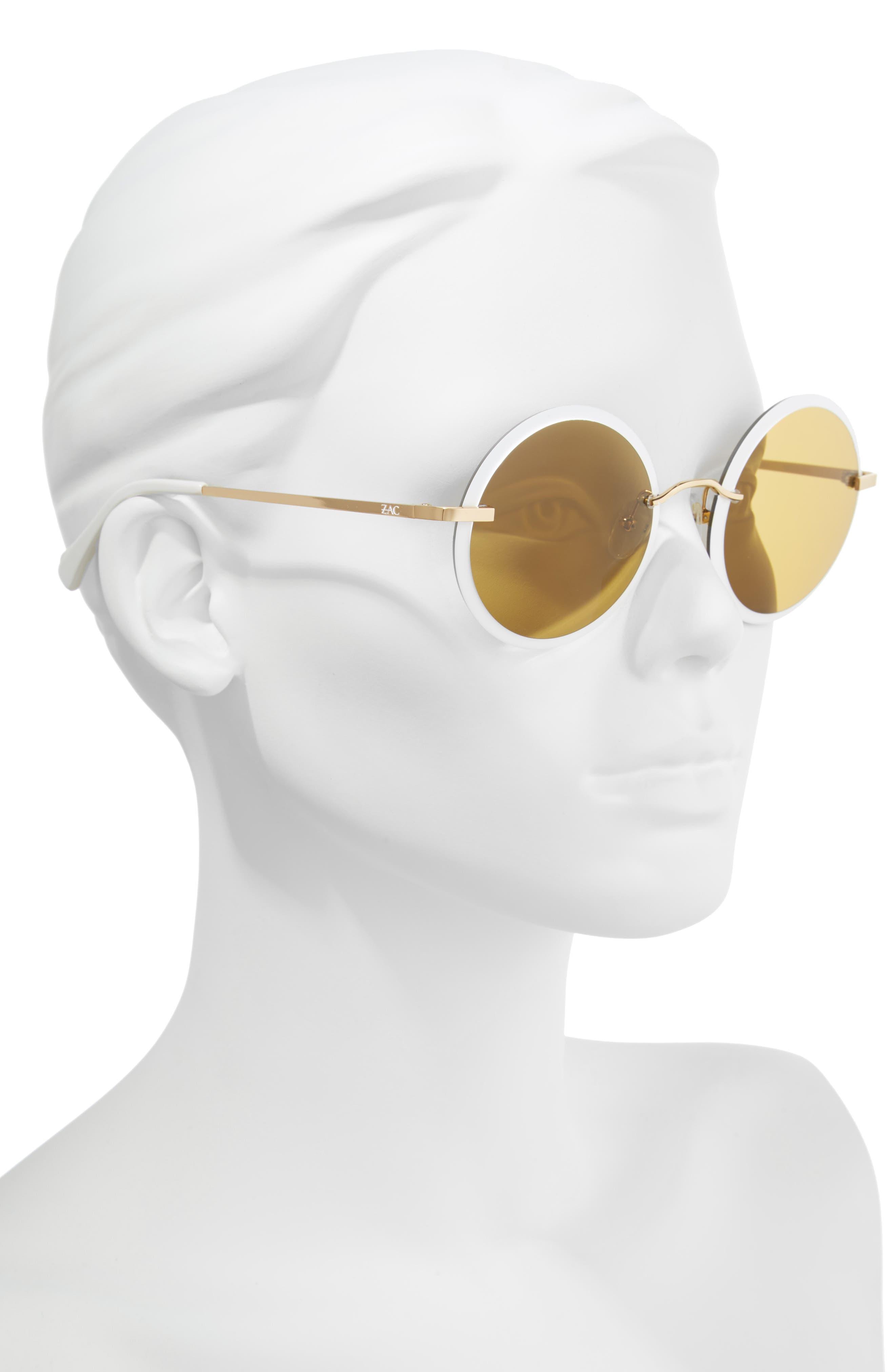 Dido 58mm Sunglasses,                             Alternate thumbnail 2, color,                             White/ Gold