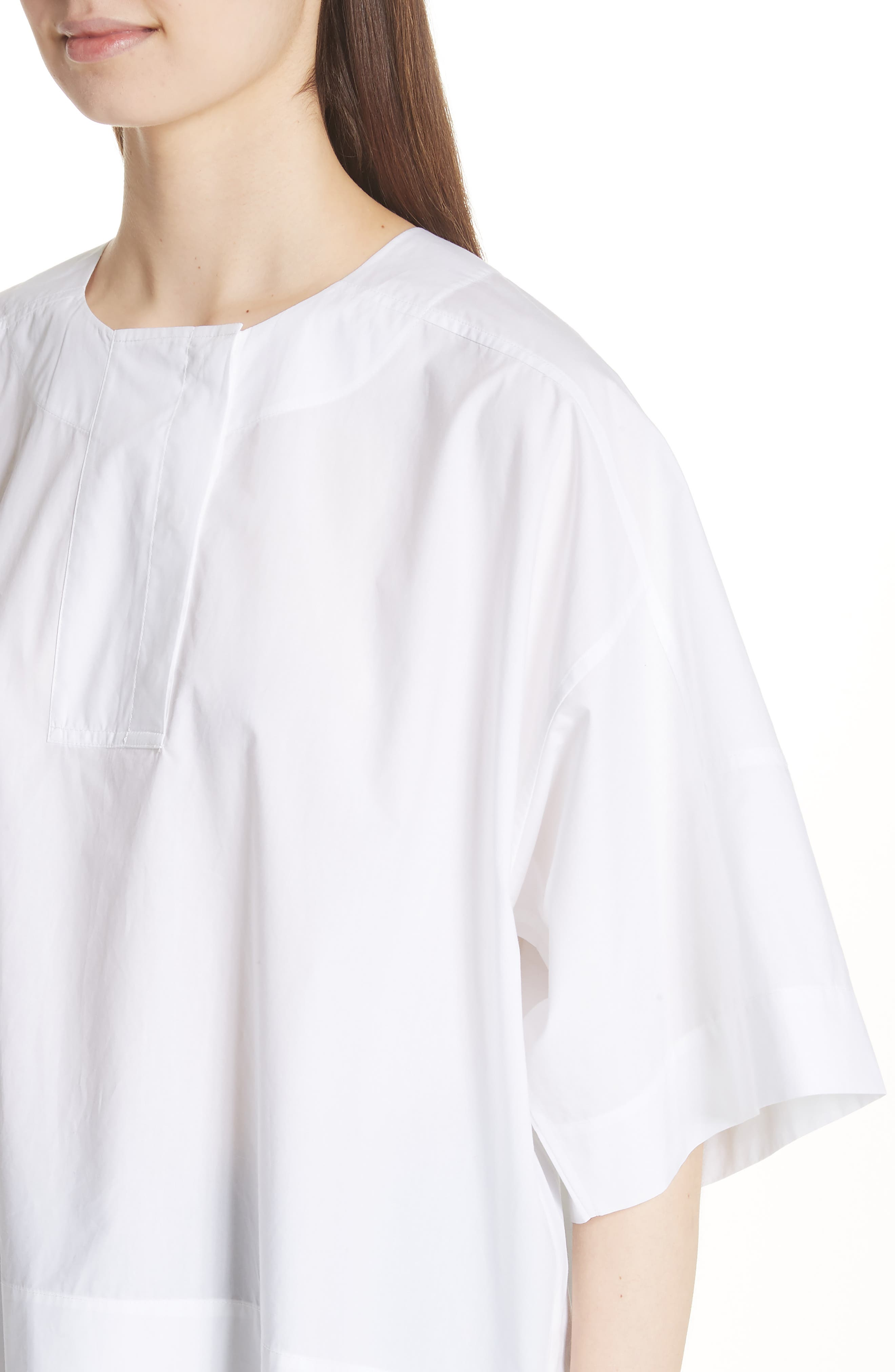 Lhena Boxy Top,                             Alternate thumbnail 4, color,                             White