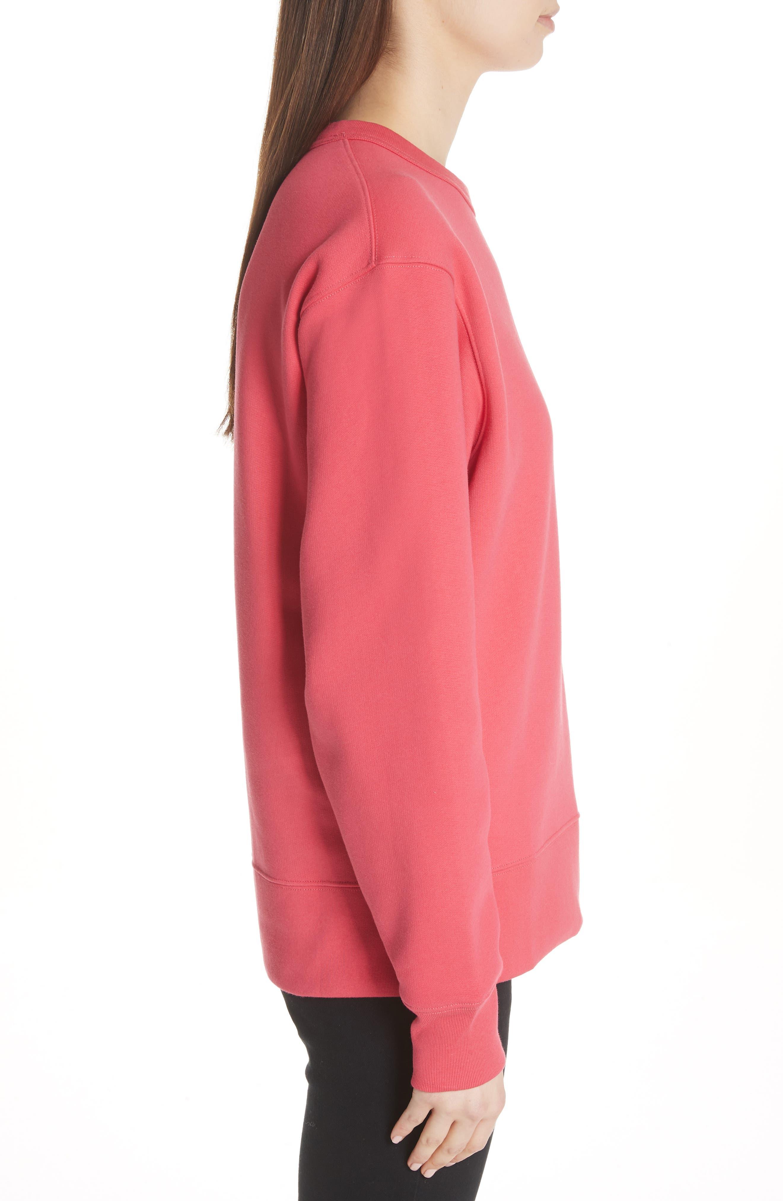 Fairview Crewneck Sweatshirt,                             Alternate thumbnail 3, color,                             Neon Pink