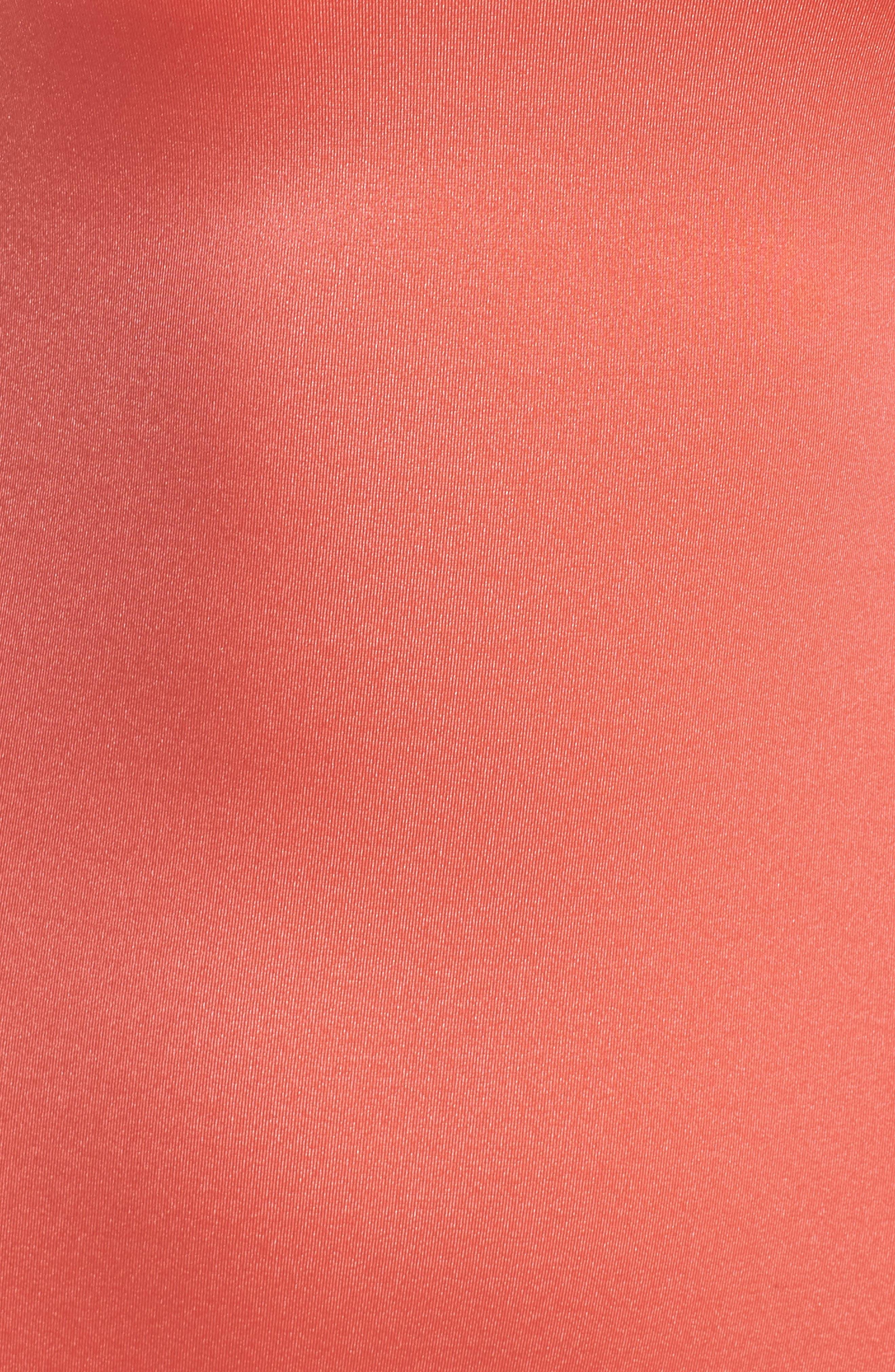 Retro One-Piece Swimsuit,                             Alternate thumbnail 5, color,                             Coral Glow